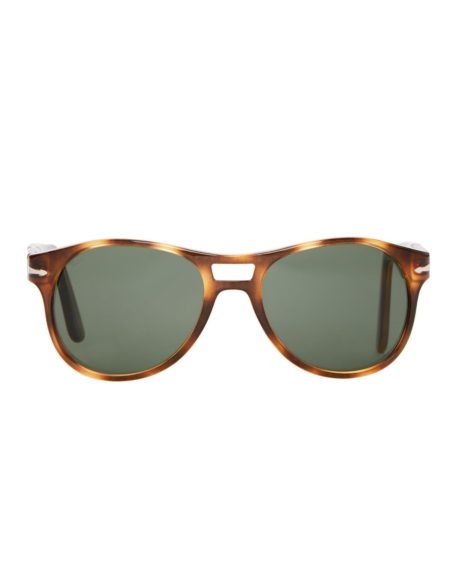 9e9193ed23 Lyst - Persol Tortoiseshell-look Po3155 Aviator Sunglasses