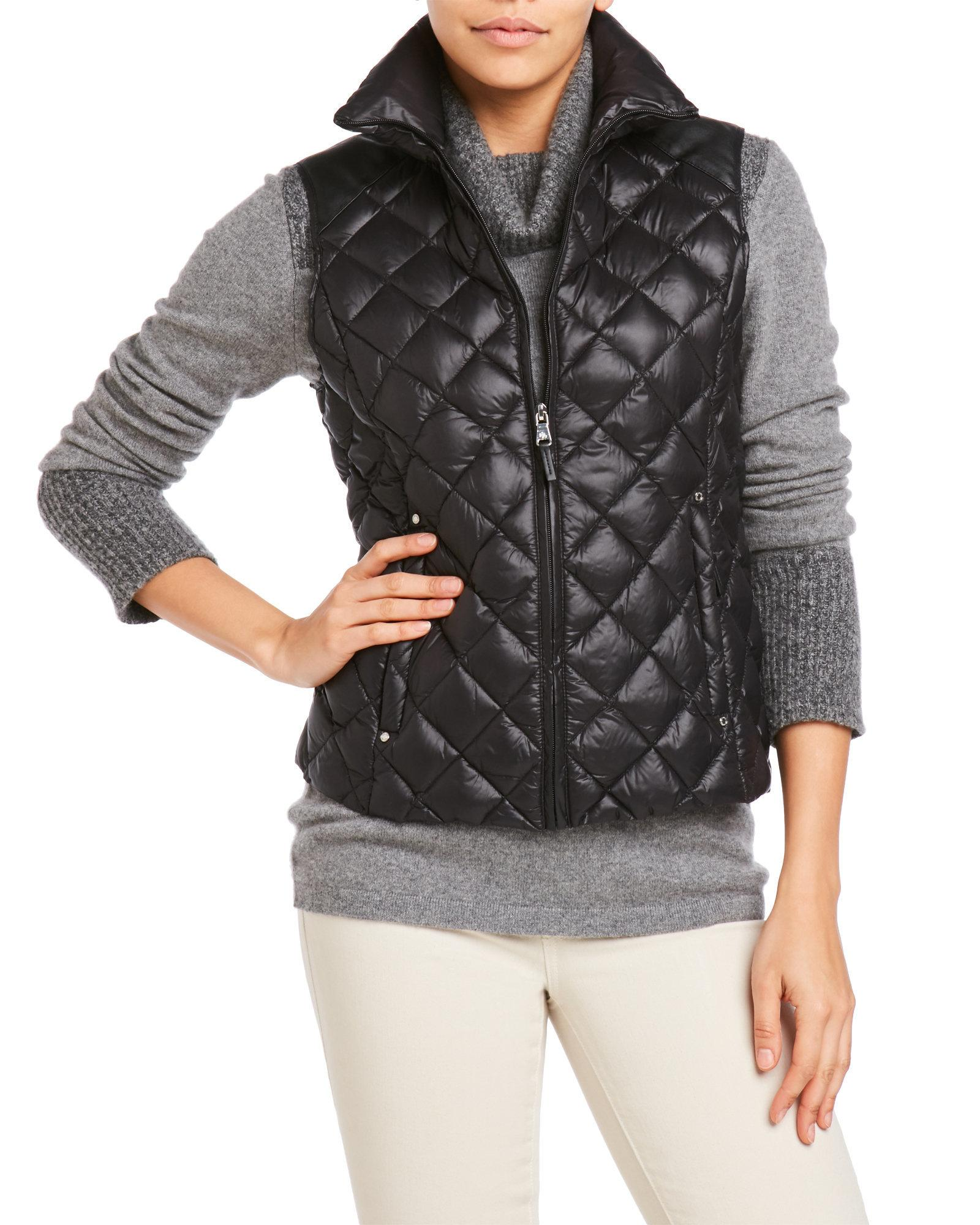 Lauren By Ralph Lauren Quilted Down Vest In Black Lyst