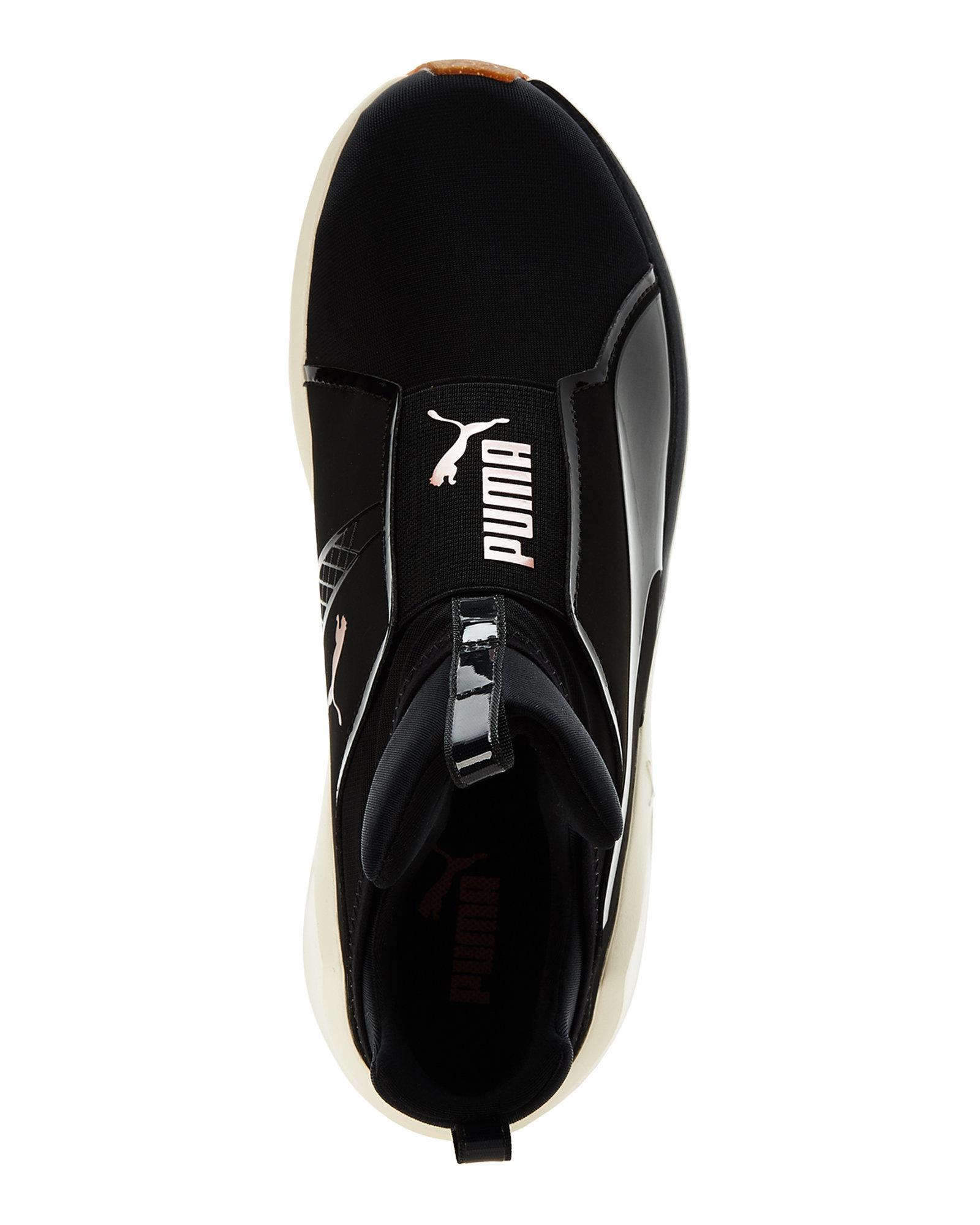 a4cd3c0ed66c98 Lyst - PUMA Black   Rose Gold Fierce Vr Training Sneakers in Black