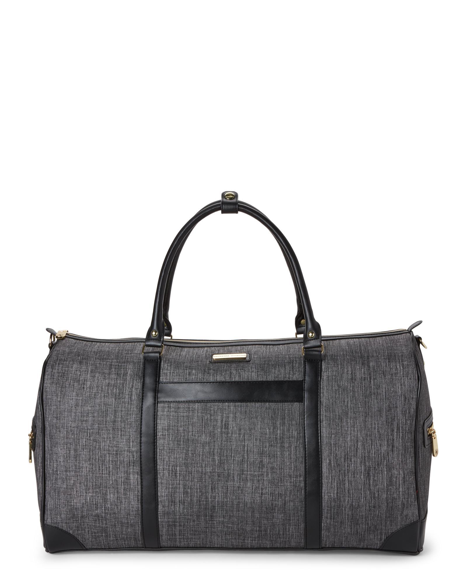 b5a3082b1a Lyst - Adrienne Vittadini Charcoal   Black Duffel in Gray