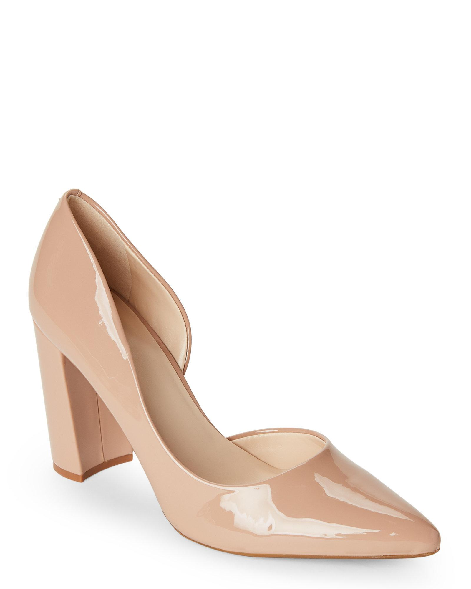 e0b75de322 Nine West Nude Anisa Block Heel D'orsay Pumps in Natural - Lyst