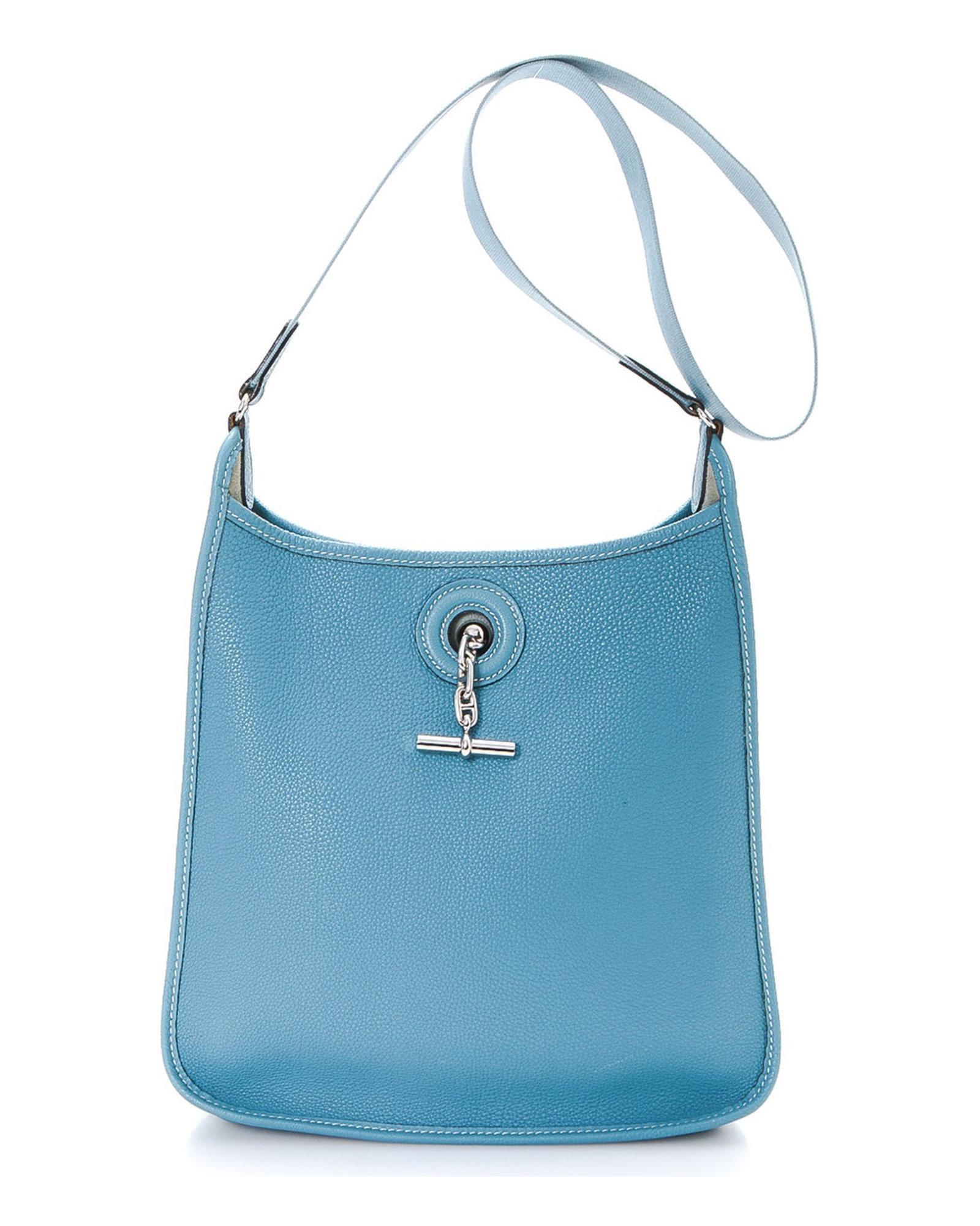 a2f1c1d4e6fc Lyst - Hermès Shoulder Bag - Vintage in Blue