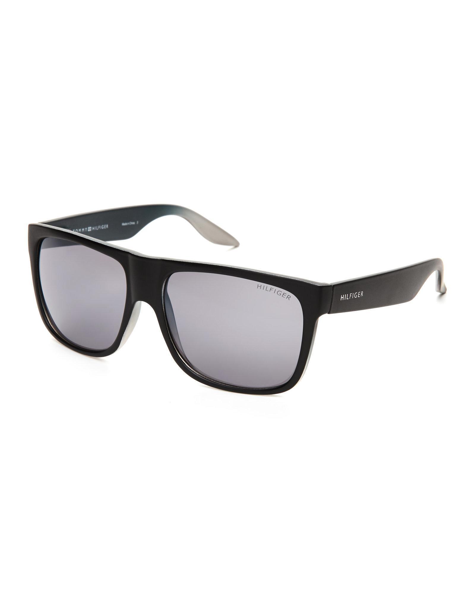 640b8337c64 Lyst - Tommy Hilfiger Black Tanner Wayfarer Sunglasses in Black for Men
