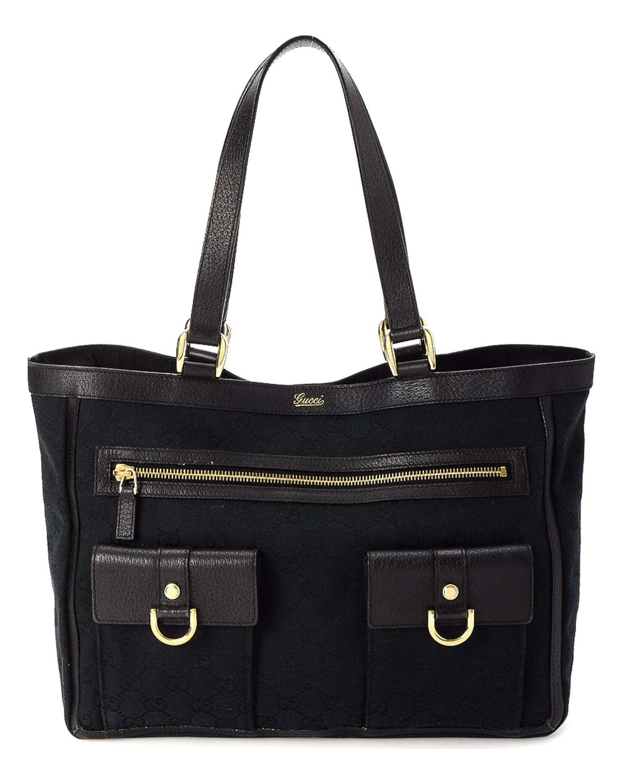 4f0cb7270ce Gucci - Black GG Canvas Abbey Tote - Vintage - Lyst. View fullscreen