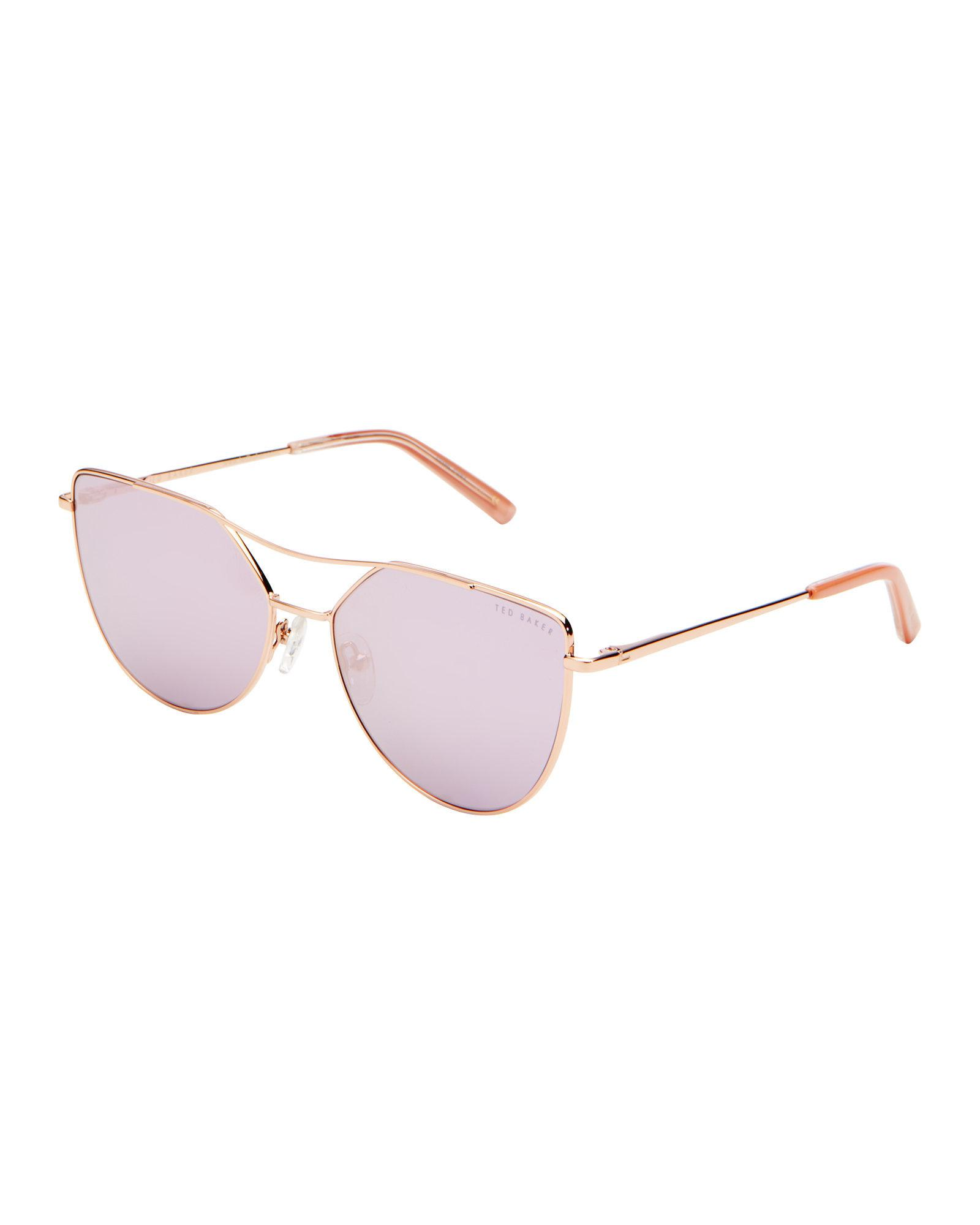 5a8781688746e Ted Baker Tbw044 Rose Gold-tone Cat Eye Sunglasses in Pink - Lyst