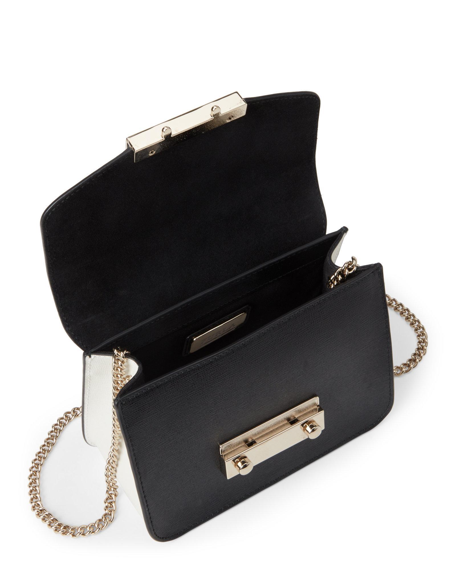 213170a8fb2c Lyst - Furla Julia Saffiano Leather Mini Crossbody in Black