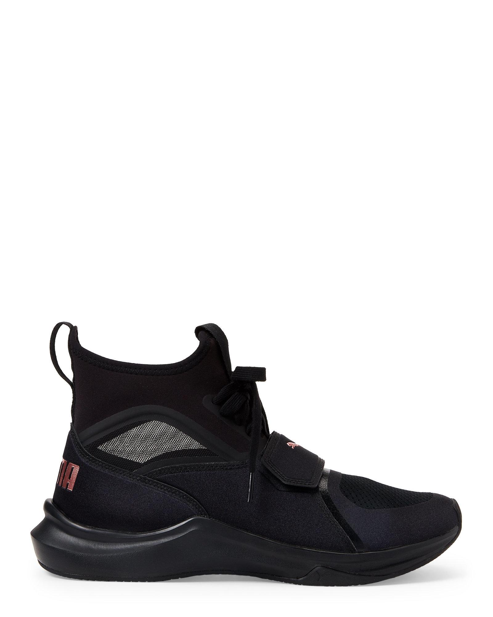 4fd46be927e7 PUMA Black   Rose Gold Phenom Training Sneakers in Black for Men - Lyst
