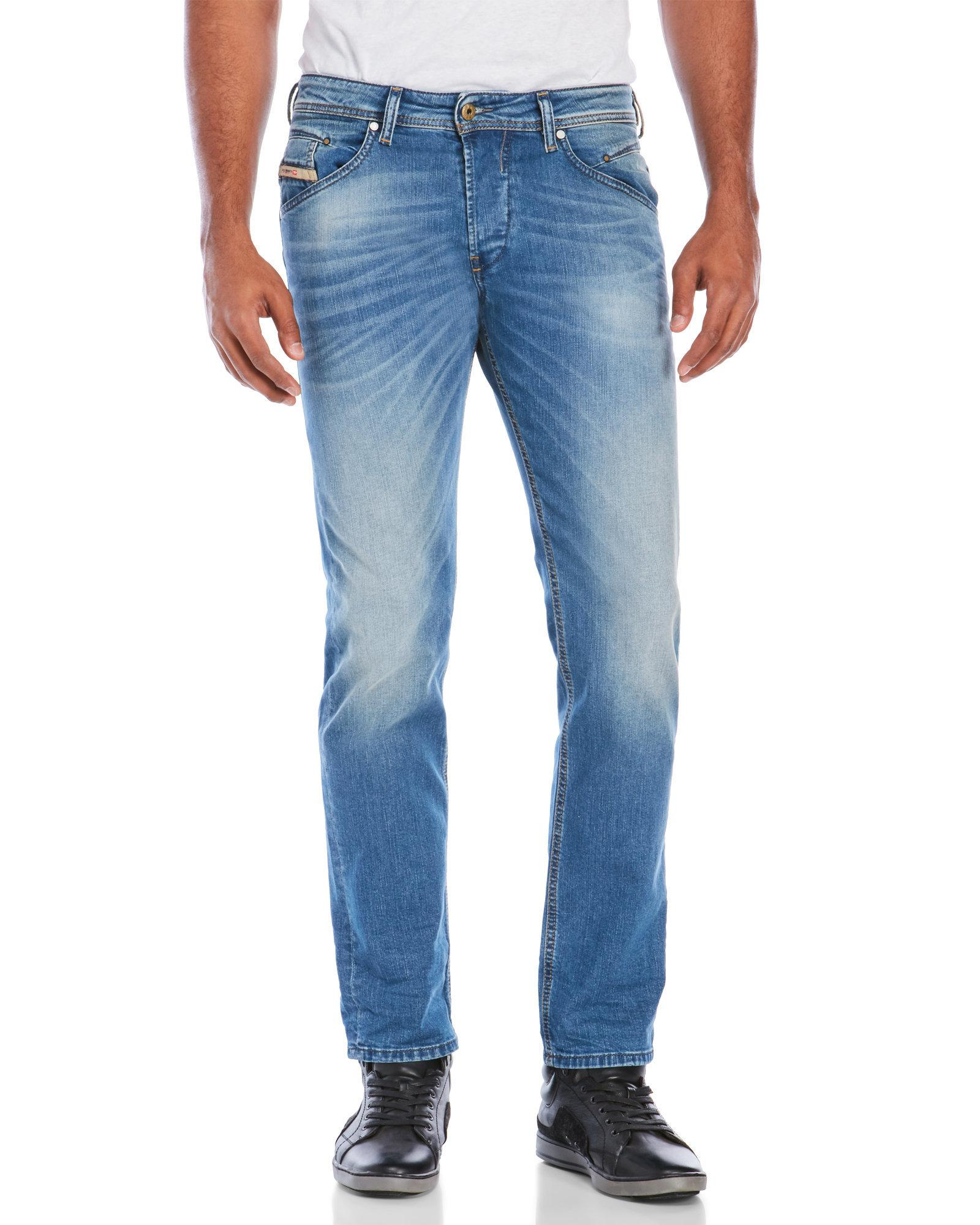 d382858f DIESEL Belther Regular Slim-Tapered Stretch Jeans in Blue for Men - Lyst