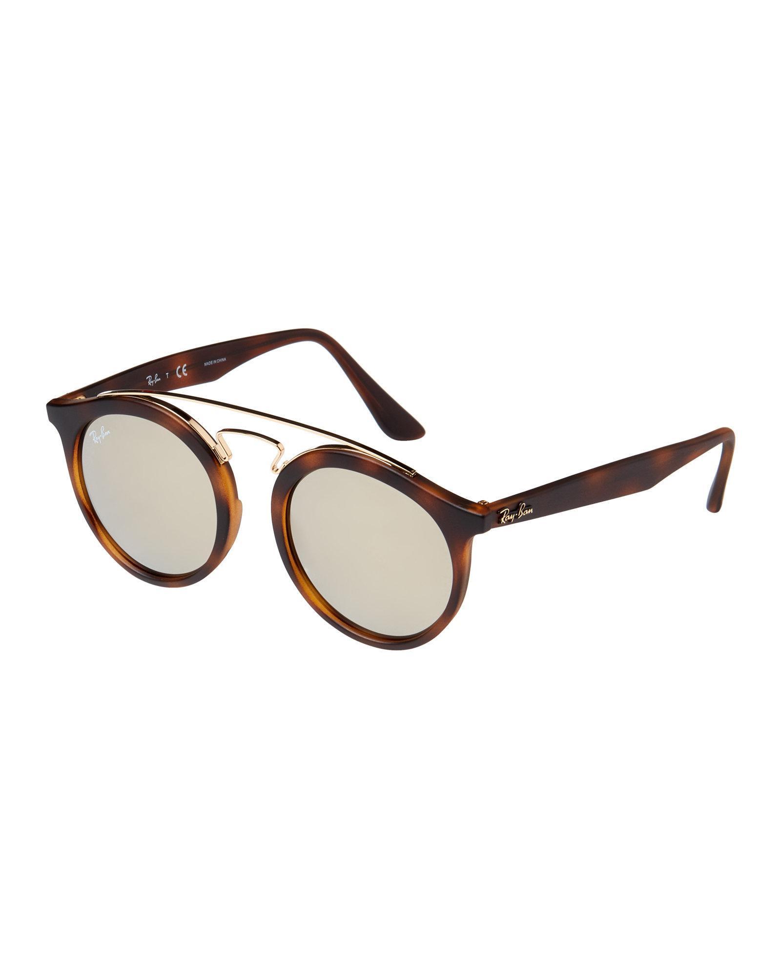 54e06b81c6 Lyst - Ray-Ban Rb4256 Tortoiseshell-look Gatsby Round Sunglasses in ...