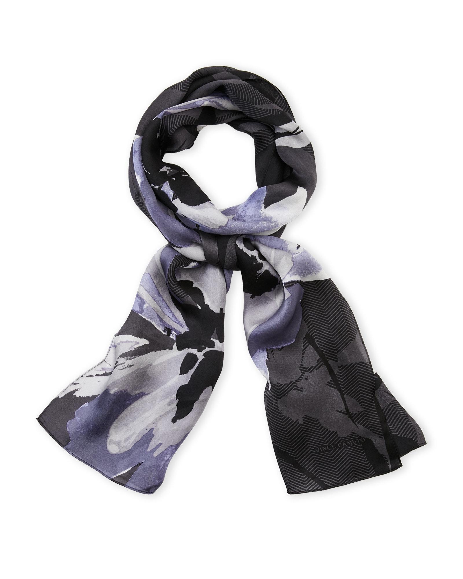 Lyst Vince Camuto Floral Watercolor Silk Scarf