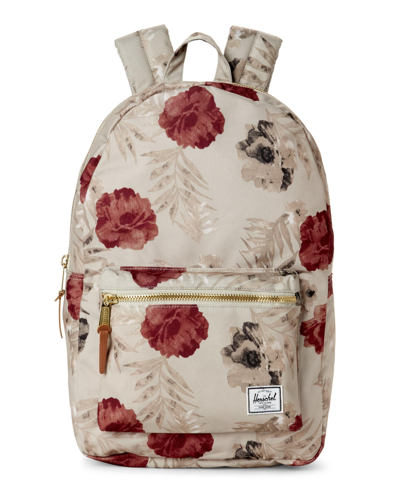 c80e1a75273c Lyst - Herschel Supply Co. Settlement Pelican Floral Tan Backpack