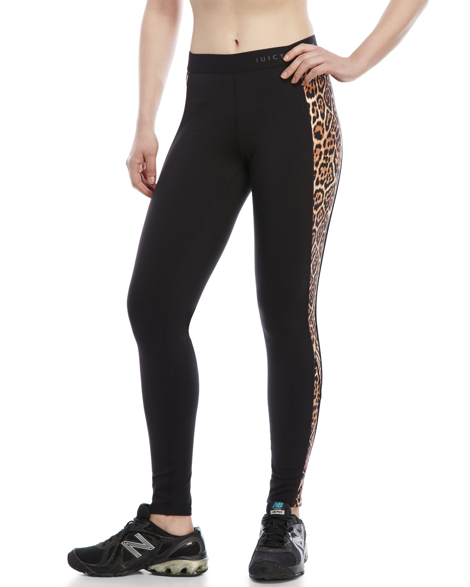 679d345367163 Juicy Couture Compression Sport Leggings in Black - Lyst
