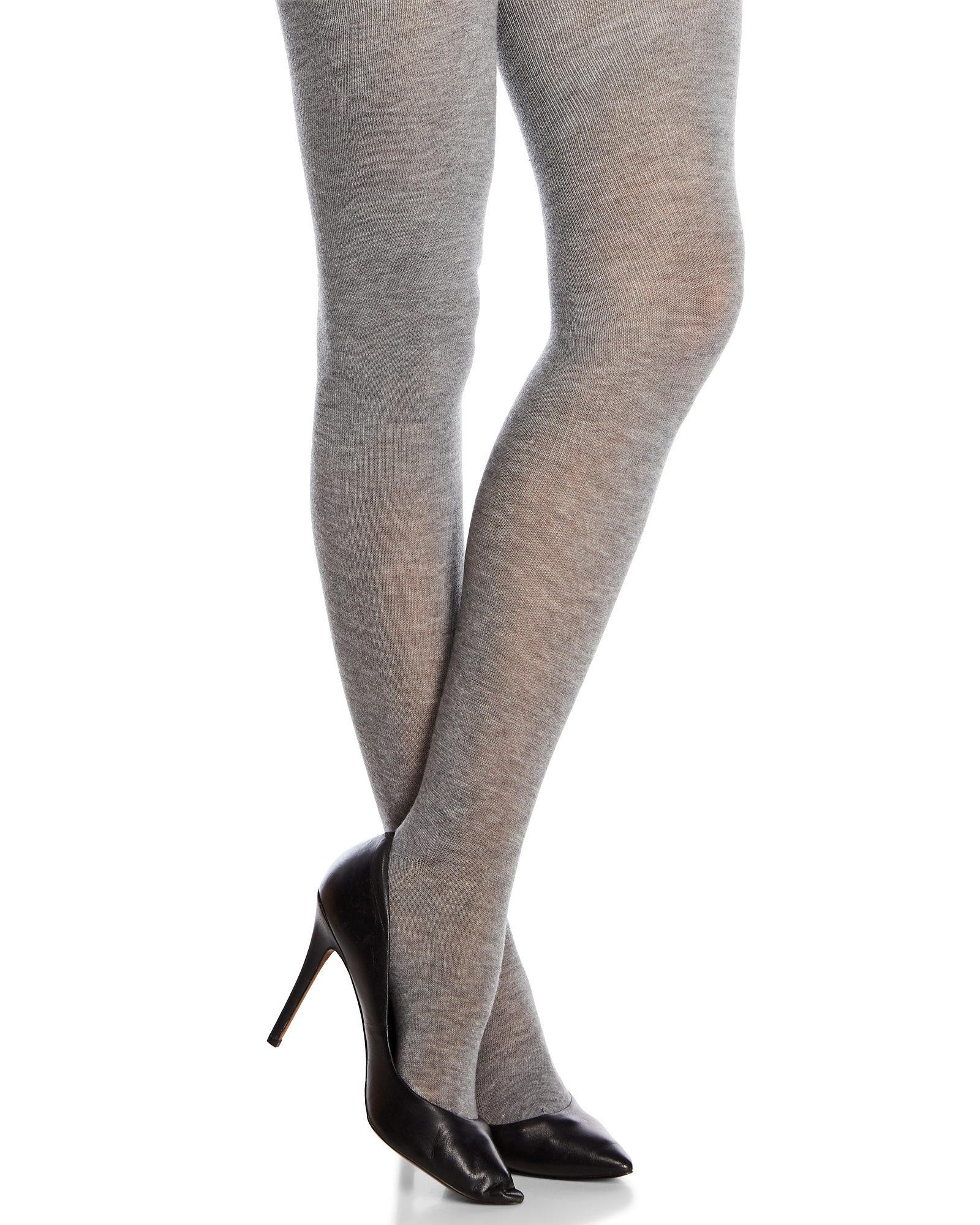 779620ff5 Hue Opaque Sweater Tights in Gray - Lyst