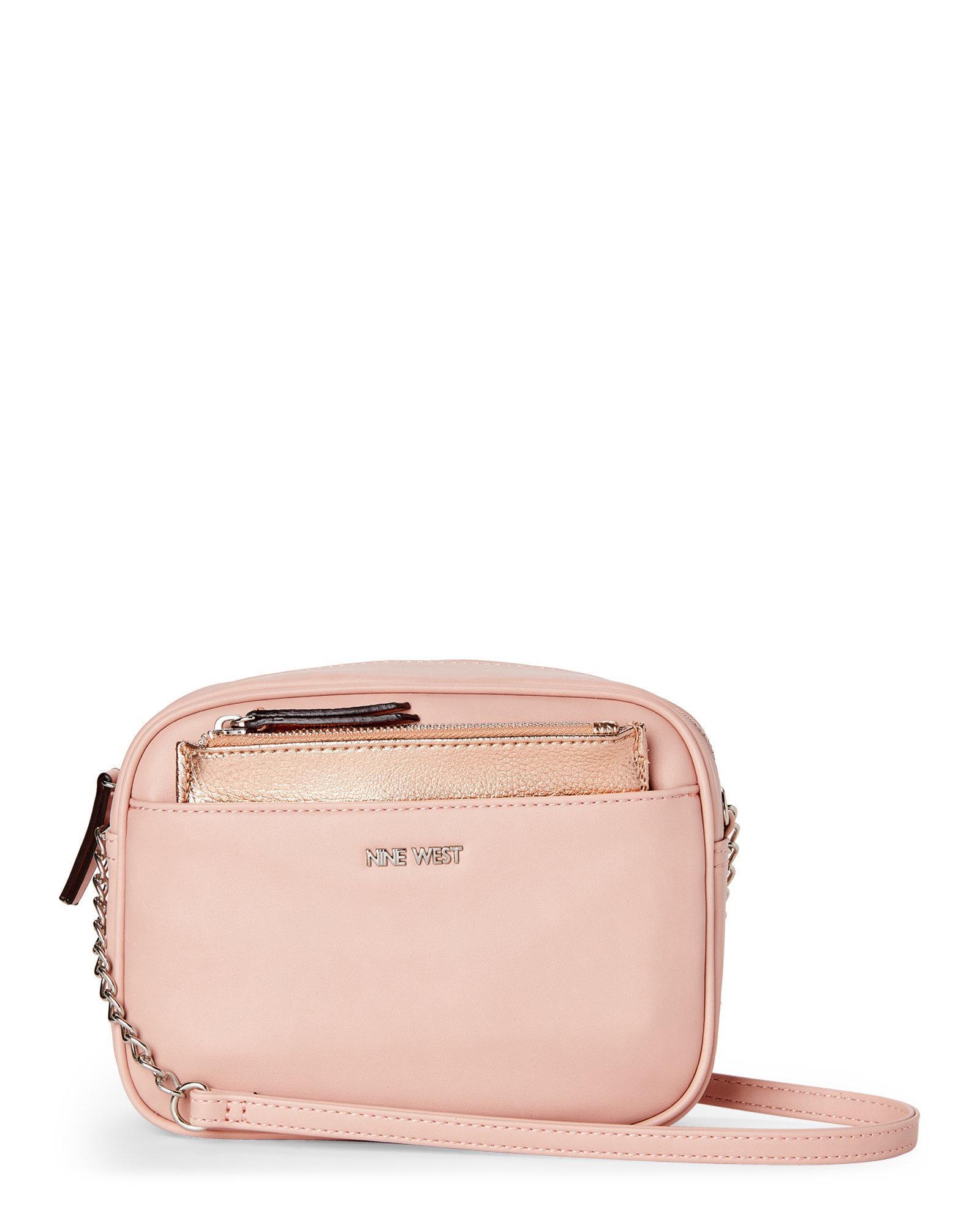 e3628d7dfd76 Lyst - Nine West Pretty Pink   Rose Gold Lyndsie Crossbody in Pink