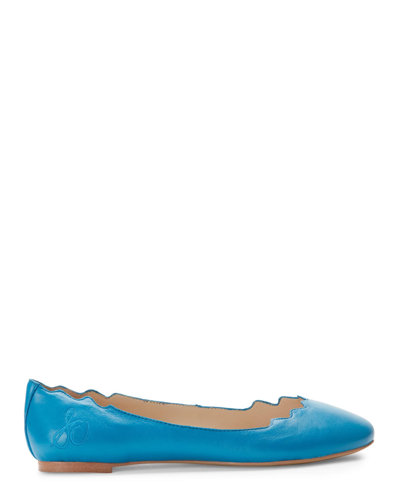 51ec273d01b724 Lyst - Sam Edelman Malibu Blue Augusta Ballet Flats in Blue