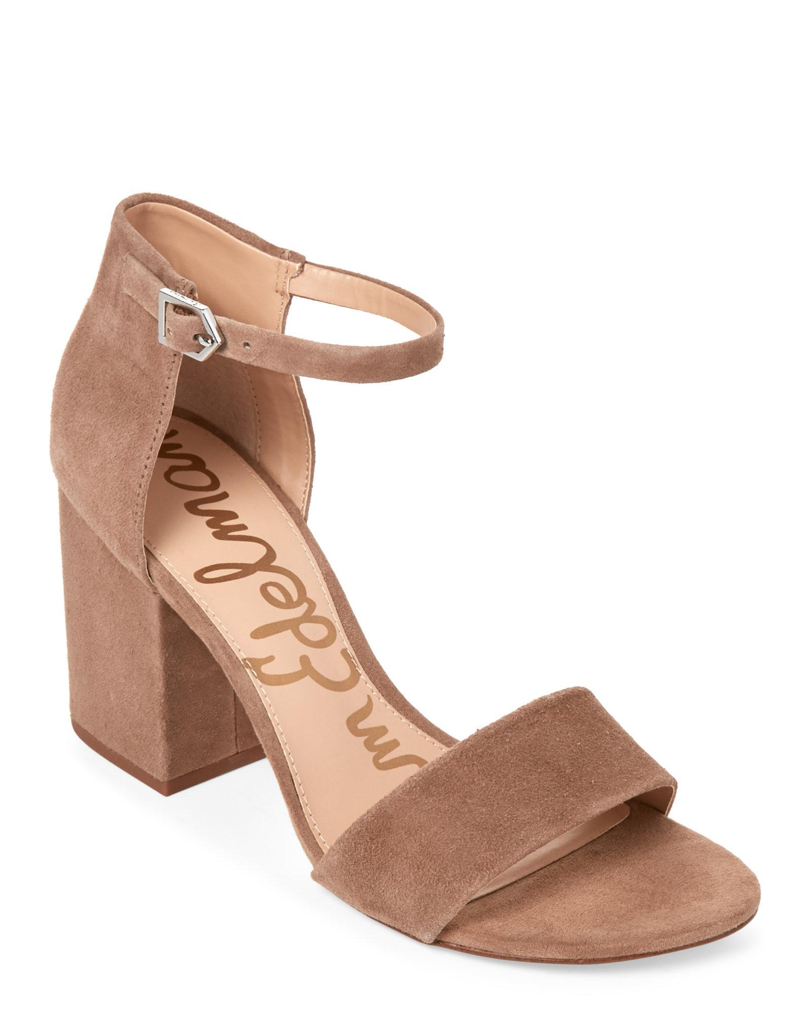 dad1ce372cd Lyst - Sam Edelman Oatmeal Torrence Two-Piece Block Heel Sandals