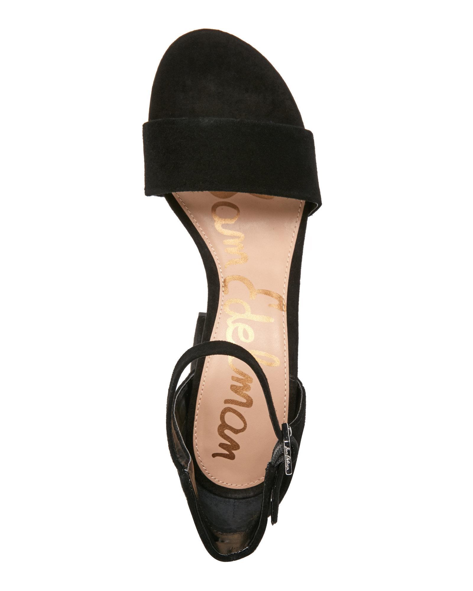 48413b45500 Lyst - Sam Edelman Black Torrence Two-Piece Block Heel Sandals in Black