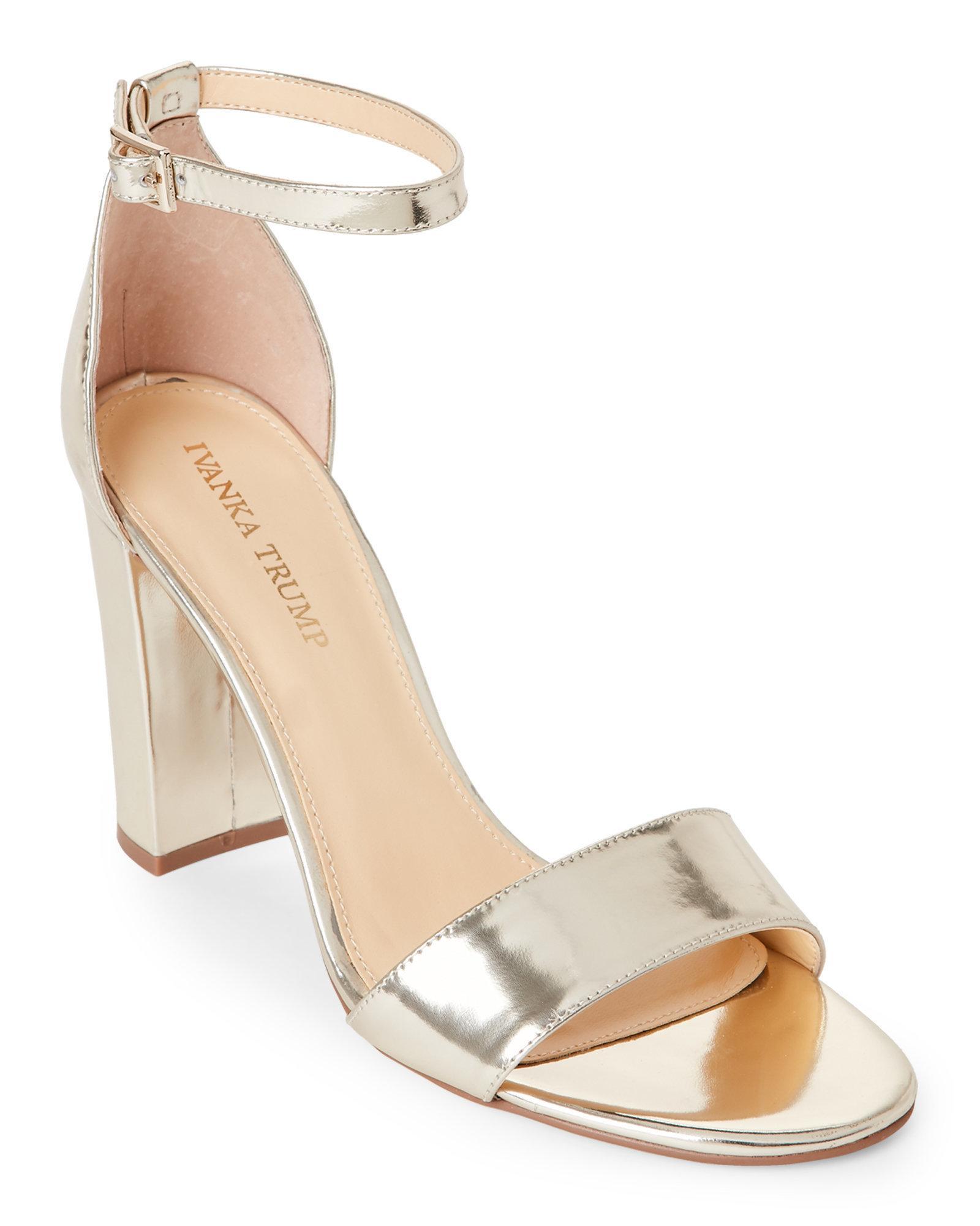 2a6ced9c219 Lyst - Ivanka Trump Light Gold Klover Block Heel Sandals in Metallic