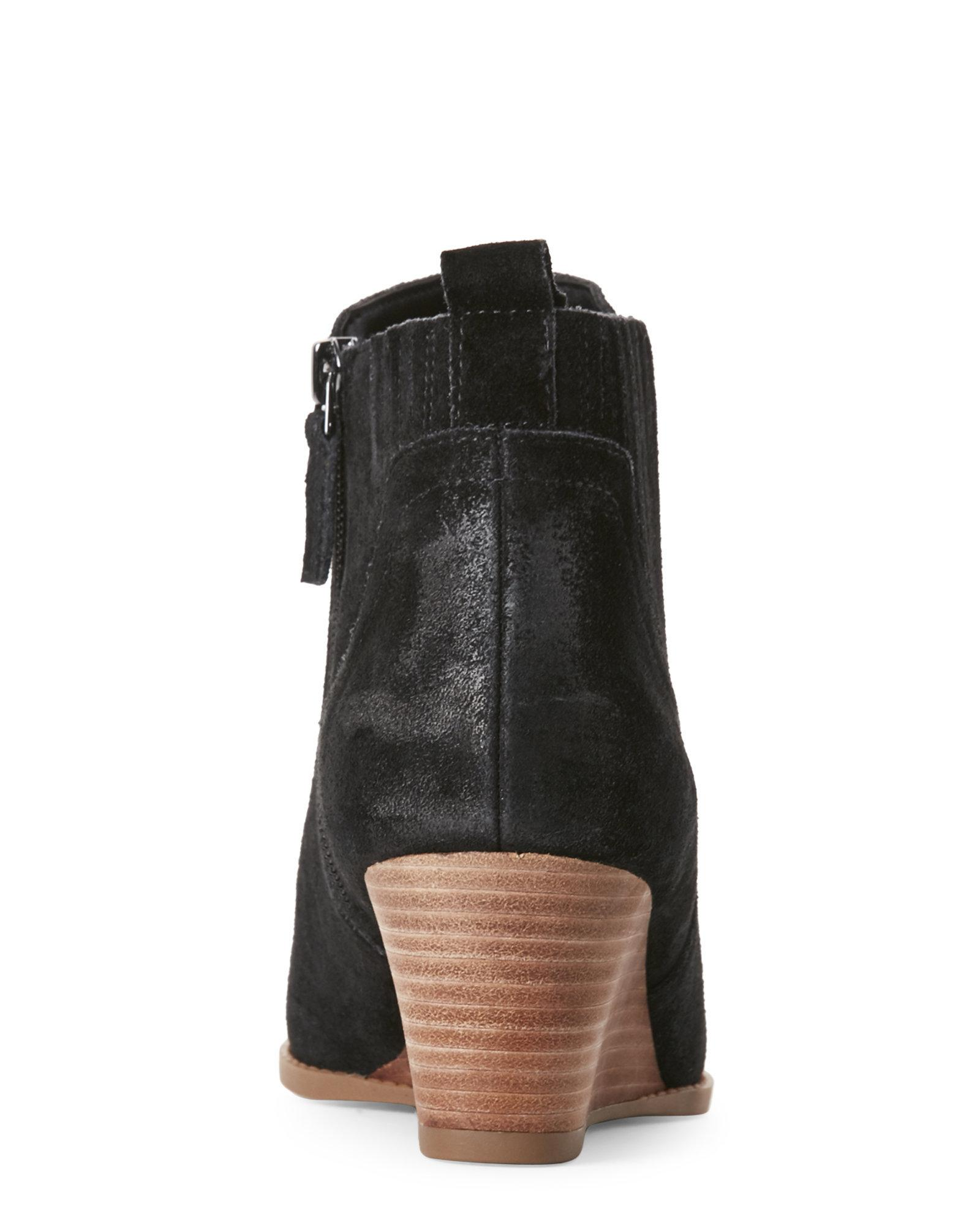 21cd667a190a Lyst - Franco Sarto Black Wayra Wedge Ankle Booties in Black