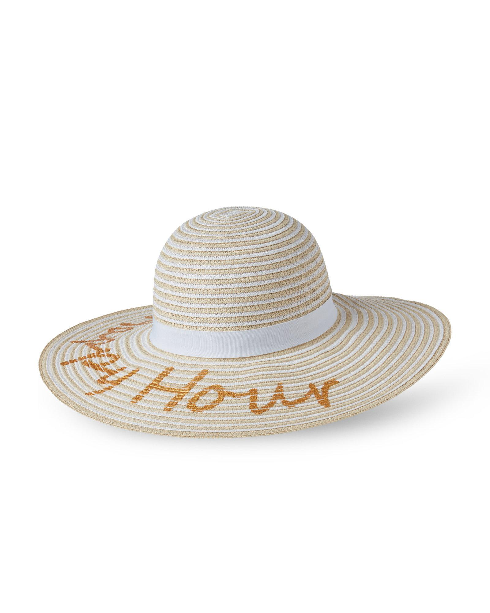 78022bdd5d6 Lyst - August Hat Company Happy Hour Floppy Hat in White