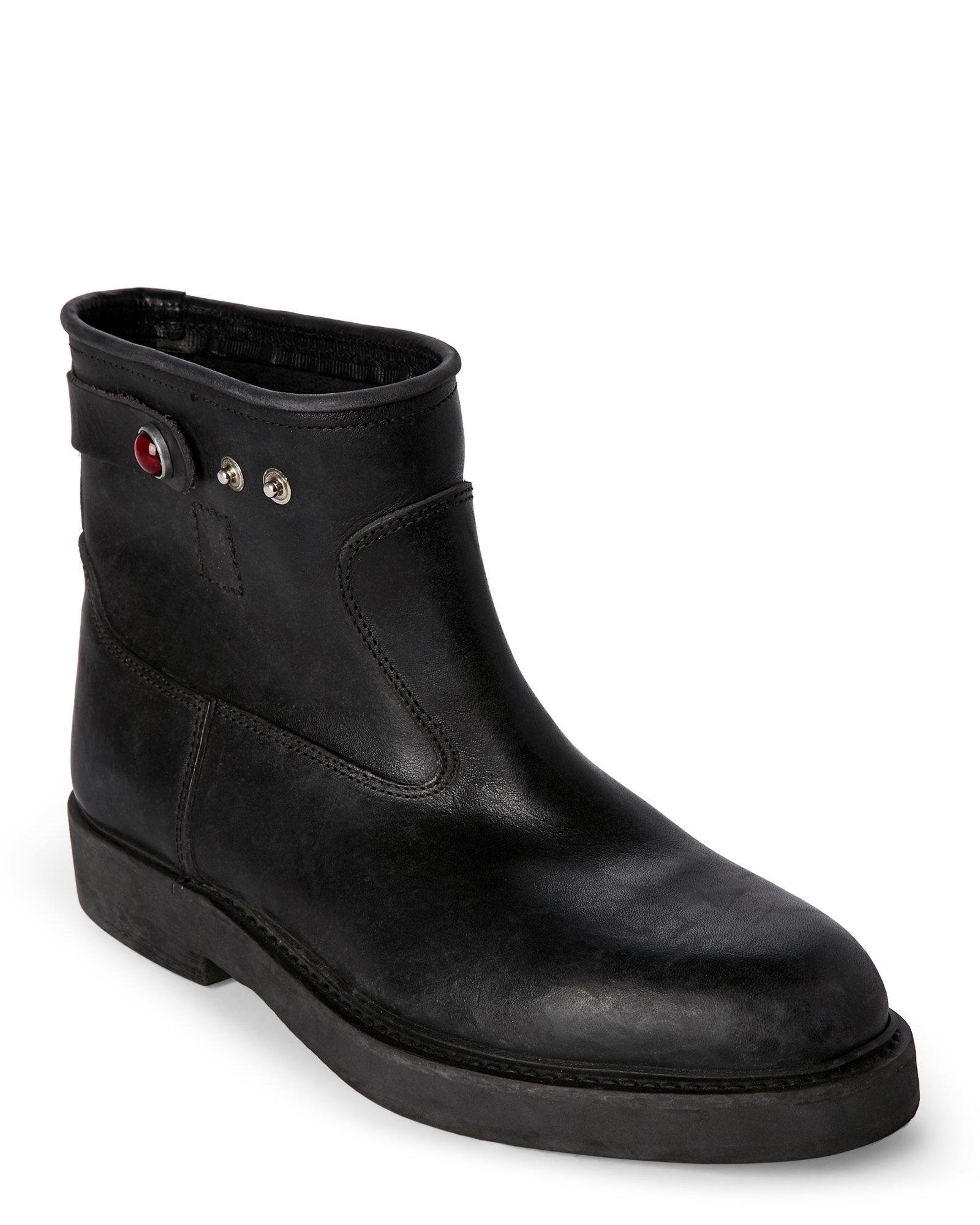 golden goose deluxe brand black u biker short boots in black lyst. Black Bedroom Furniture Sets. Home Design Ideas