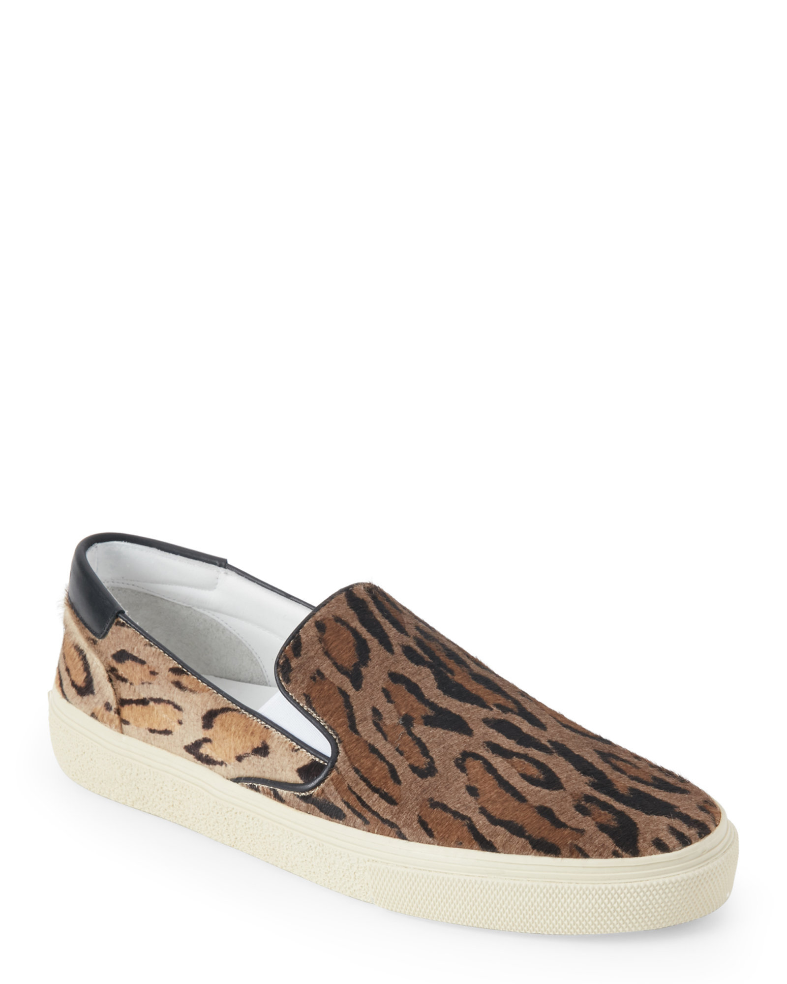 saint laurent leopard print slip on sneakers lyst. Black Bedroom Furniture Sets. Home Design Ideas