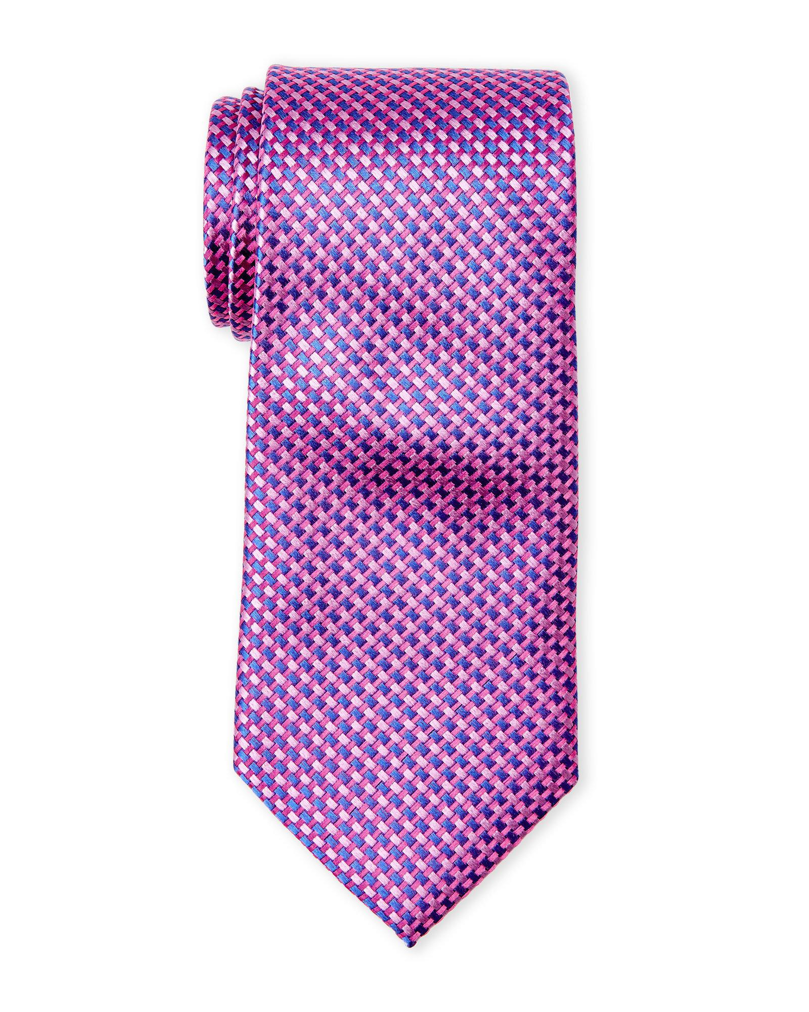1e9a97f3d Lyst - Ted Baker Basket Weave Neat Silk Tie in Pink for Men
