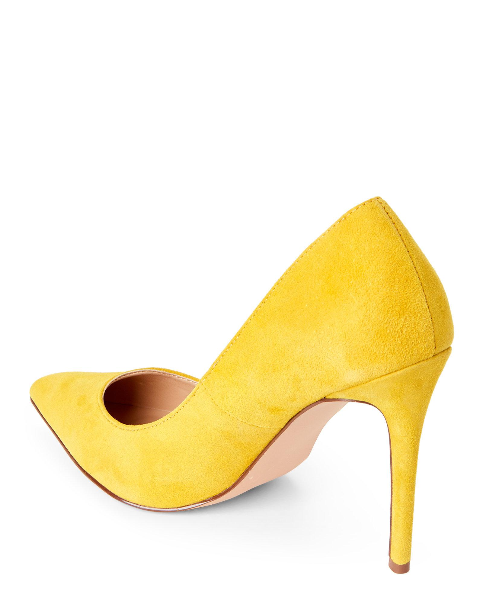 fb31707669a Lyst - Steve Madden Yellow Poet Suede Pointed Toe Pumps in Yellow