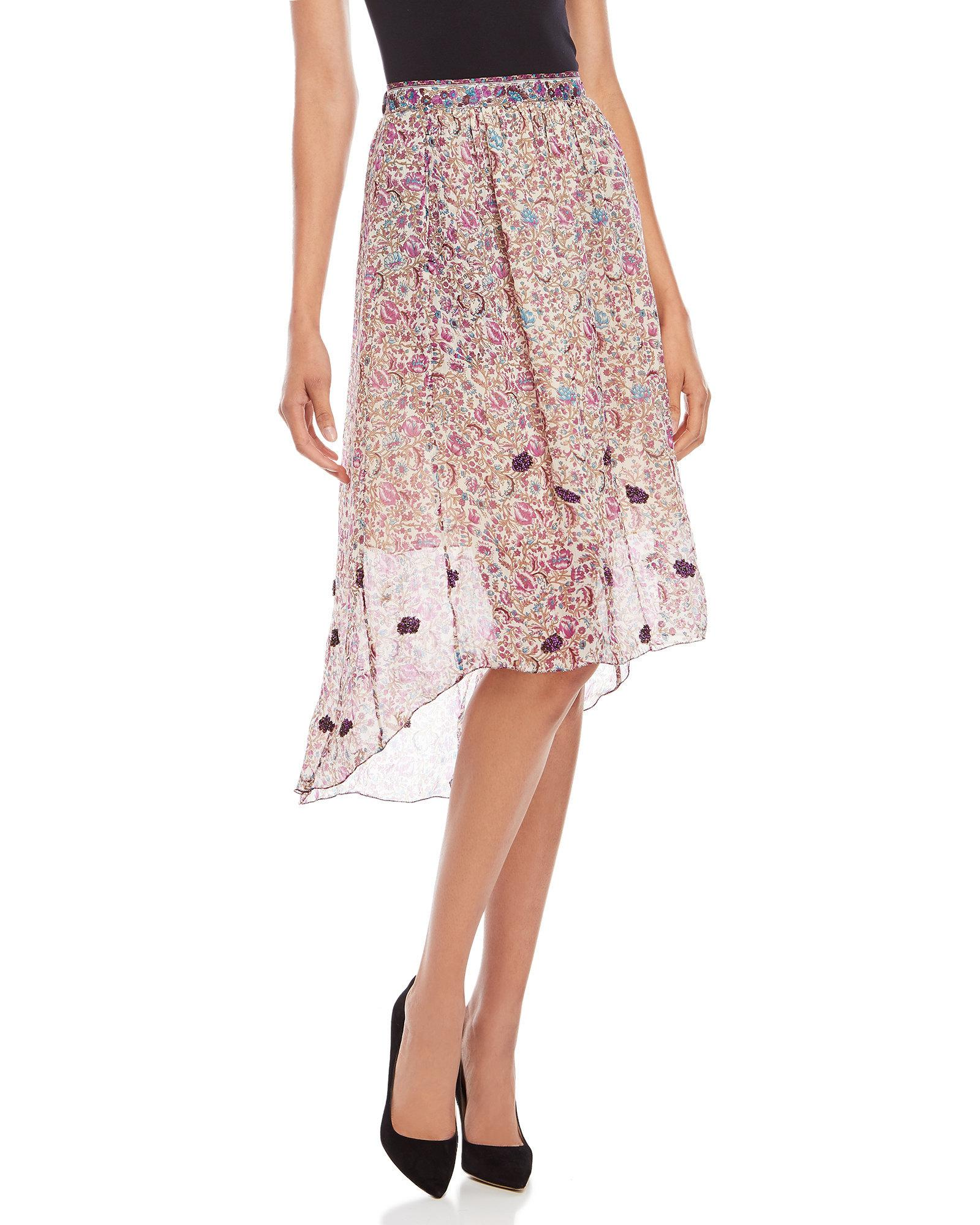 Lyst - Zadig   Voltaire Joslin Floral Print Maxi Skirt in Pink 73bde1a0f