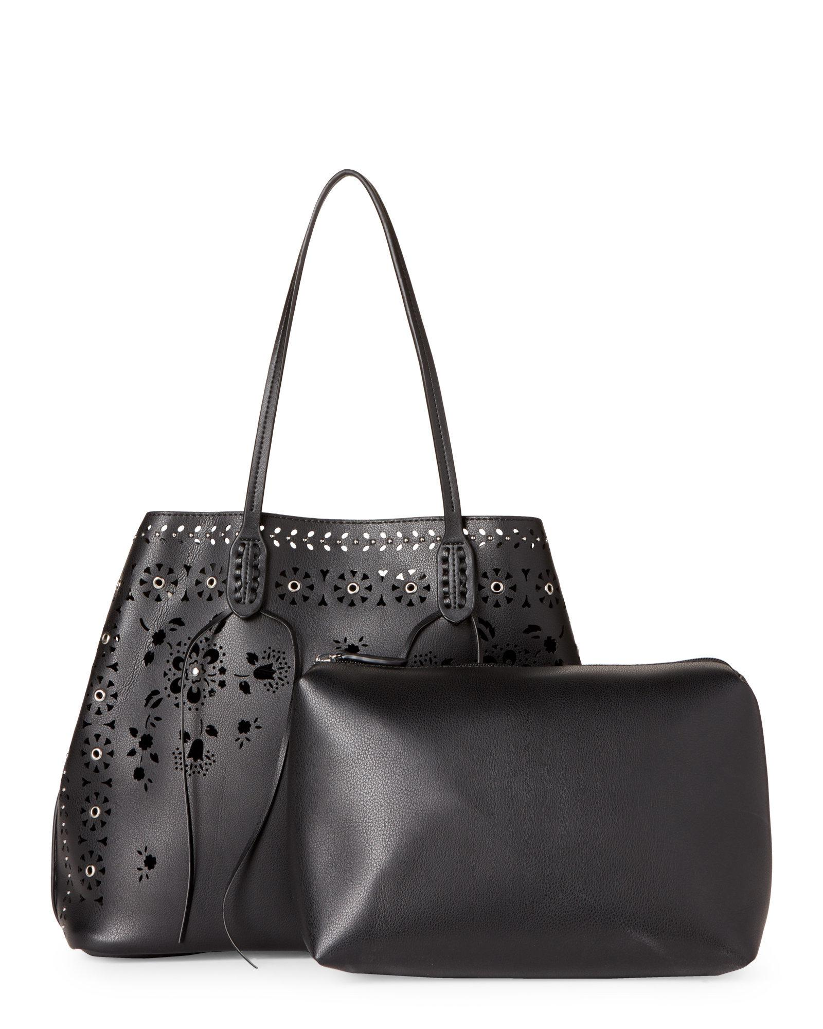 227dcd38c8decf Lyst - Moda Luxe Black Chanel Perforated Bag-in-bag Tote in Black