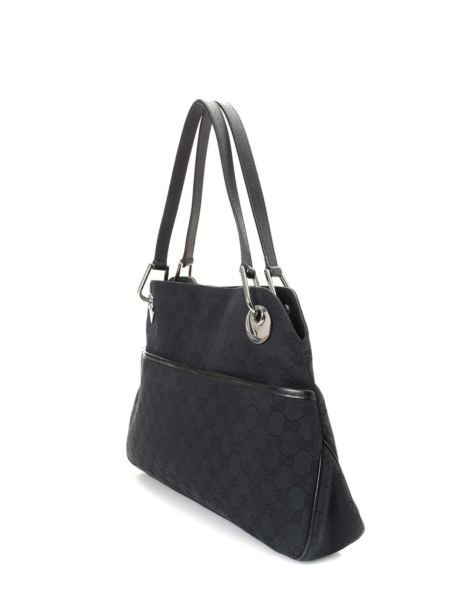 924ef3d539d6 Lyst - Gucci Gg Canvas Shoulder Bag - Vintage in Black