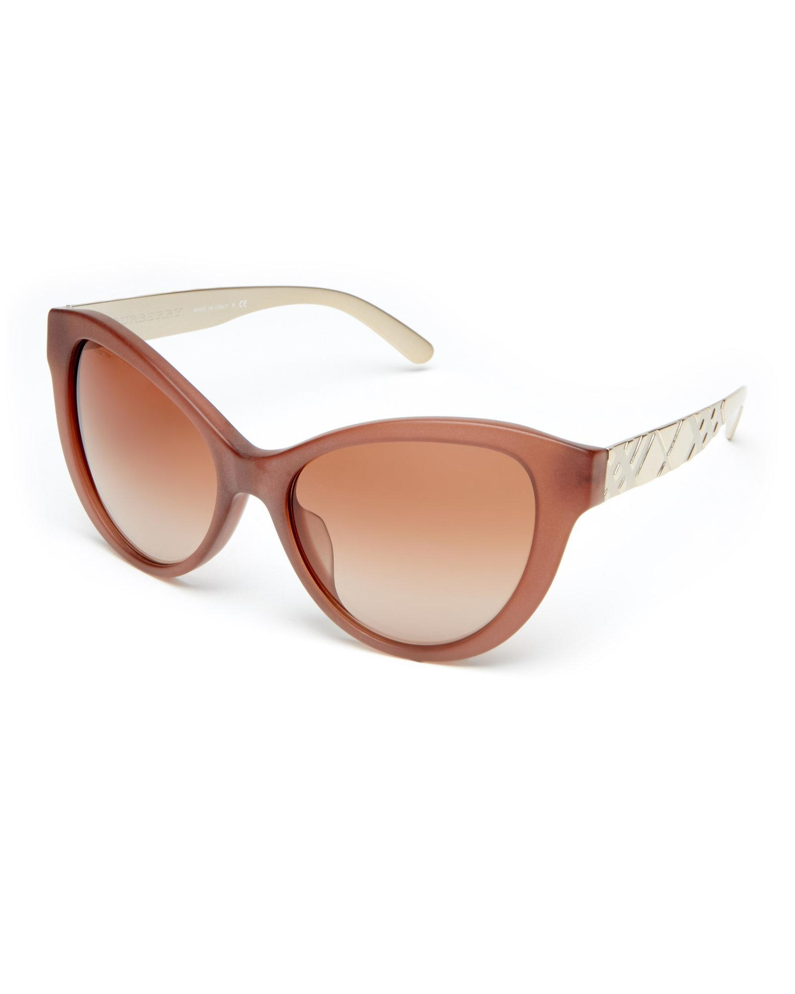 2ded391a19 Lyst - Burberry Be4220 Light Brown Cat Eye Sunglasses in Brown