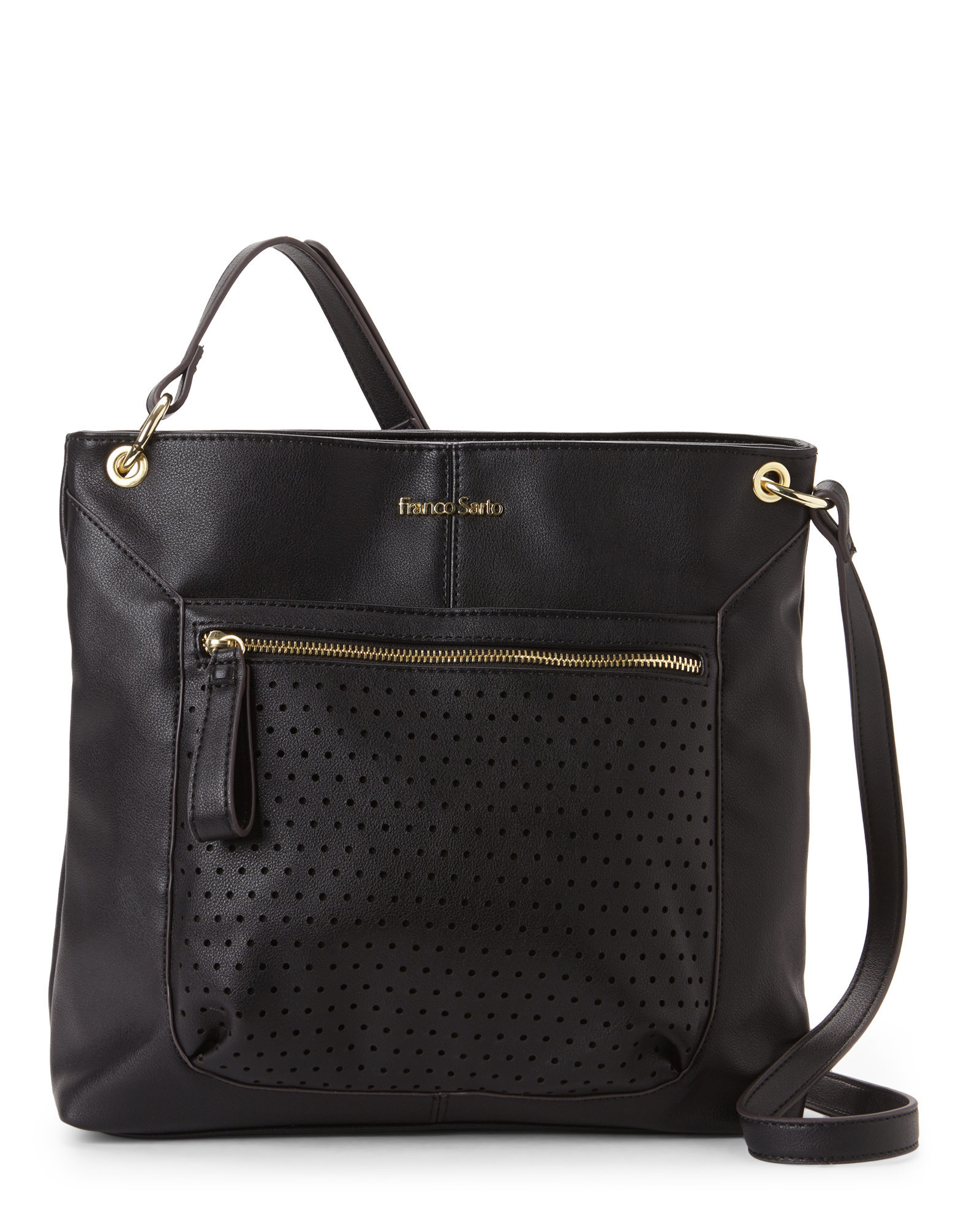 franco sarto black emily messenger bag in black lyst