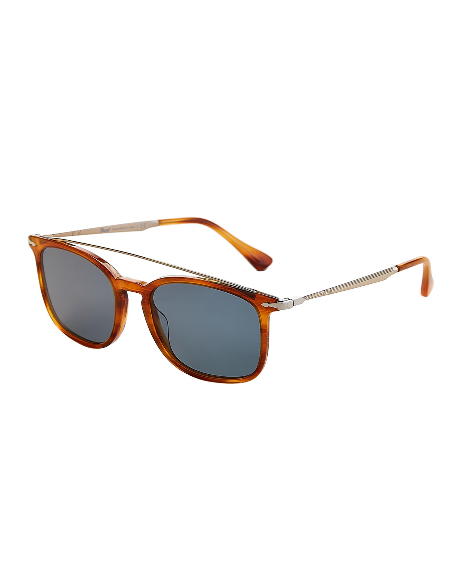 177e671d4fca1 Persol. Women s White Po3173s Light Tortoiseshell-look Square Calligrapher  Edition Sunglasses