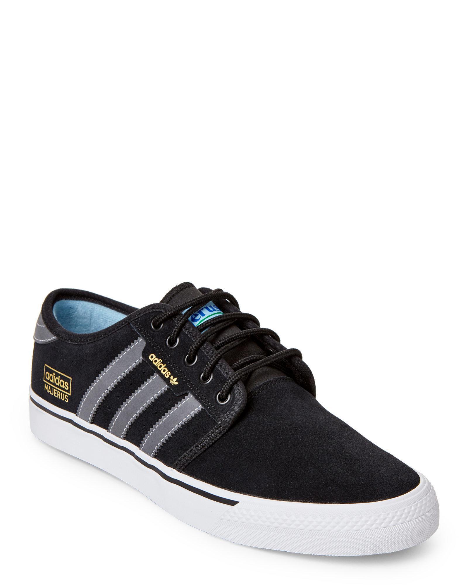 lyst adidas black & grey seeley og vantaggio skater sneakers in