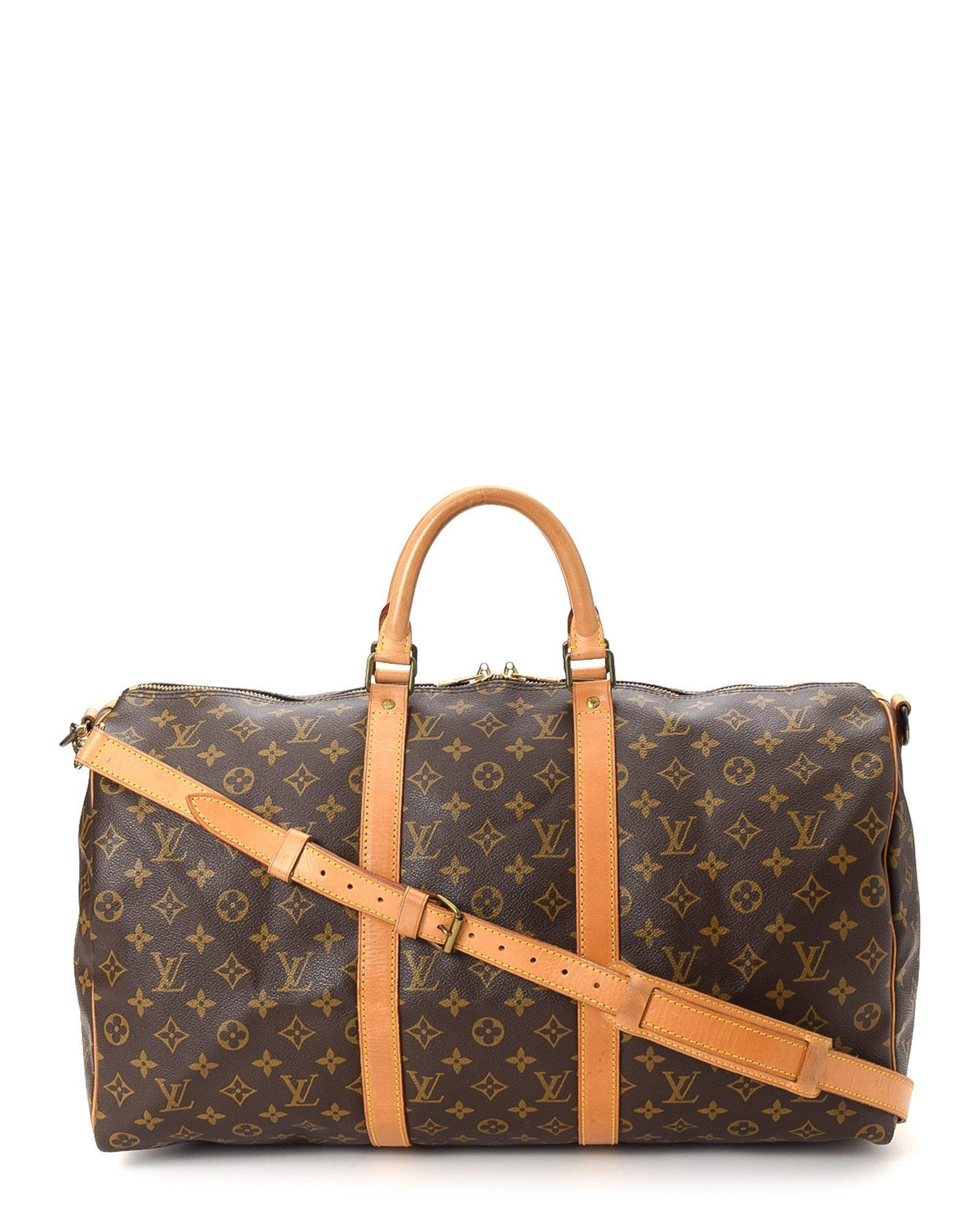 5d71300f53f6 Lyst - Louis Vuitton Keepall 50 Bandouliere - Vintage in Brown