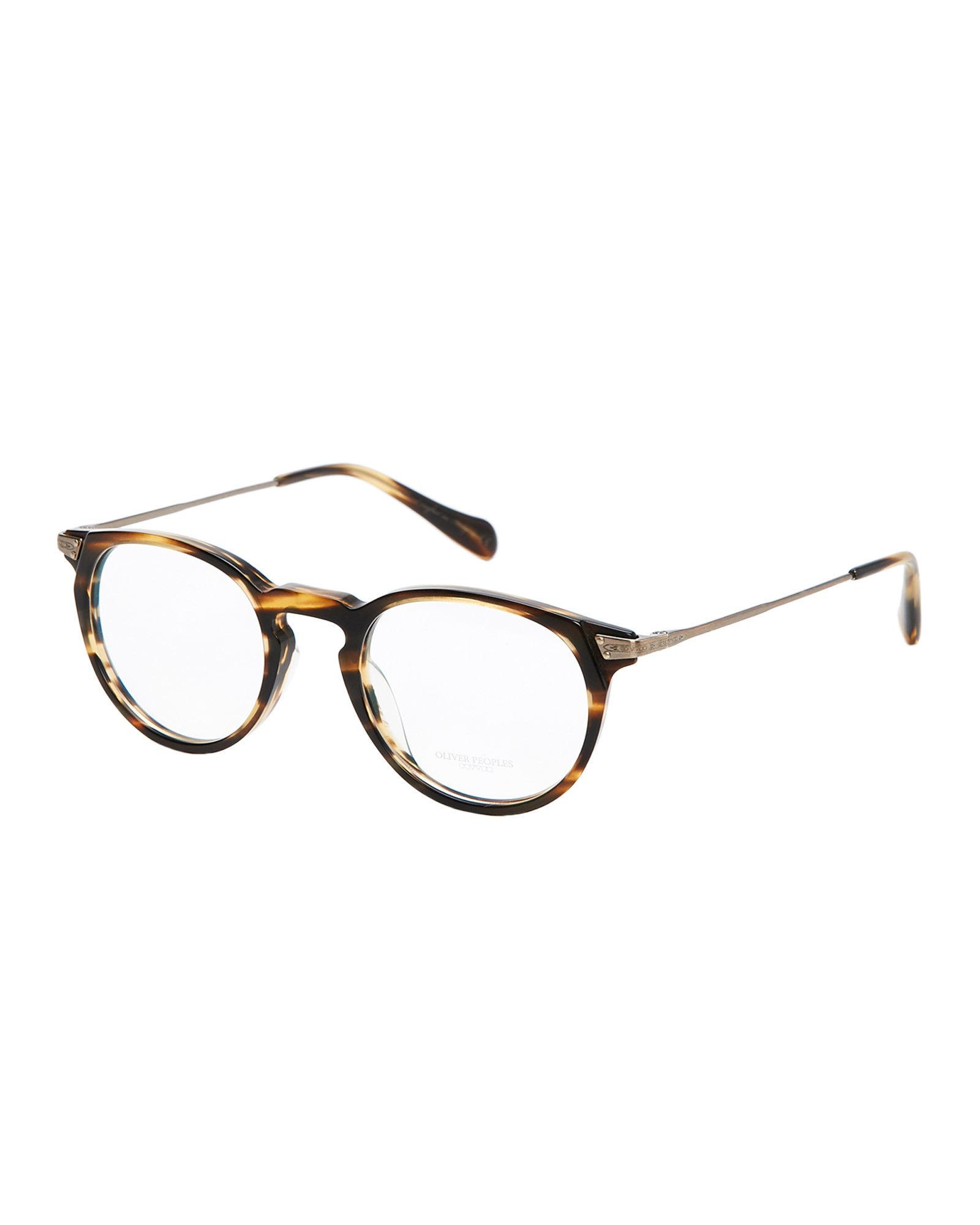 Lyst - Oliver Peoples Ov5326u Cocobolo-look Round Frames in Brown