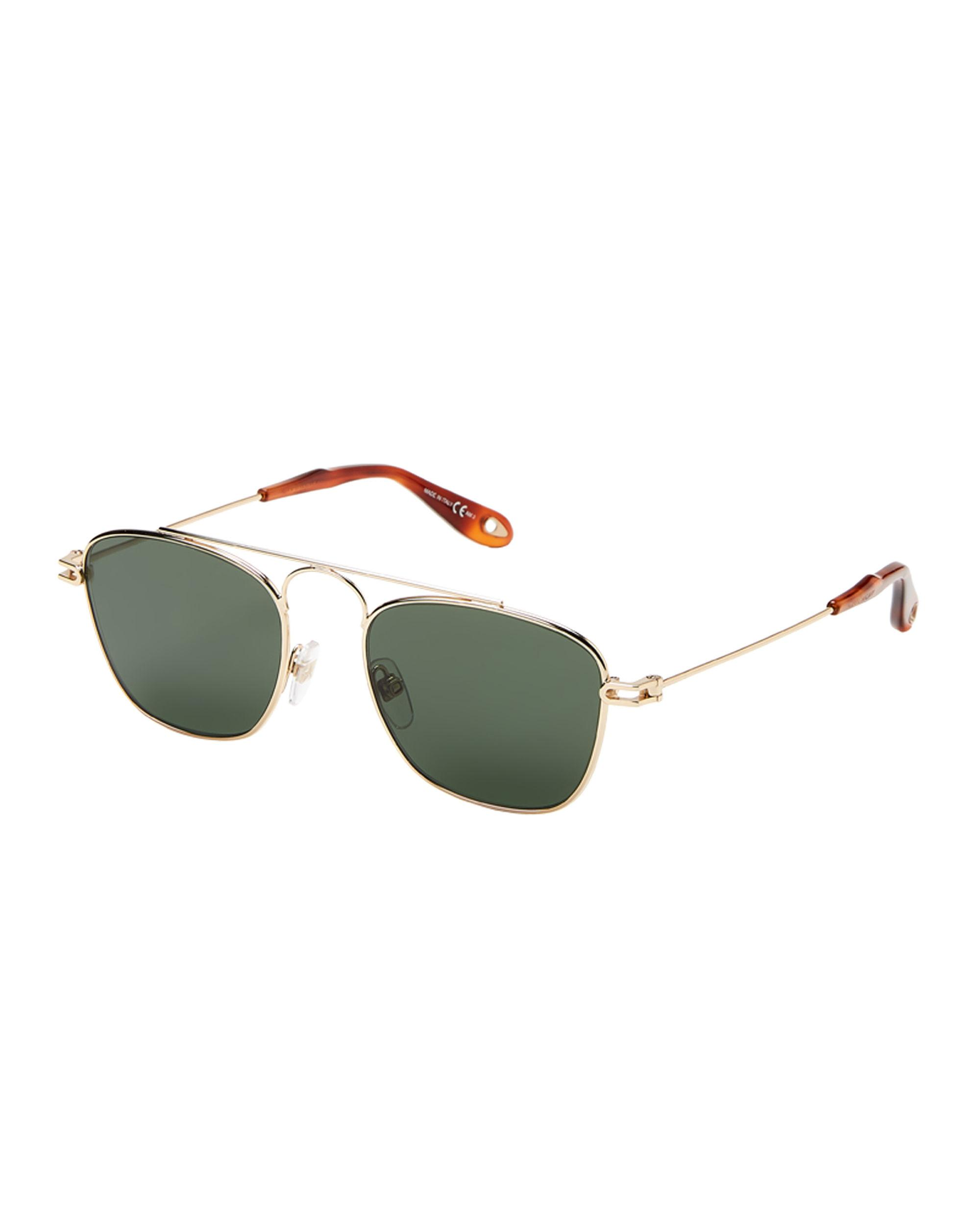 b225b20ac Givenchy Gv7055/s Gold-tone Square Aviator Sunglasses for Men - Lyst