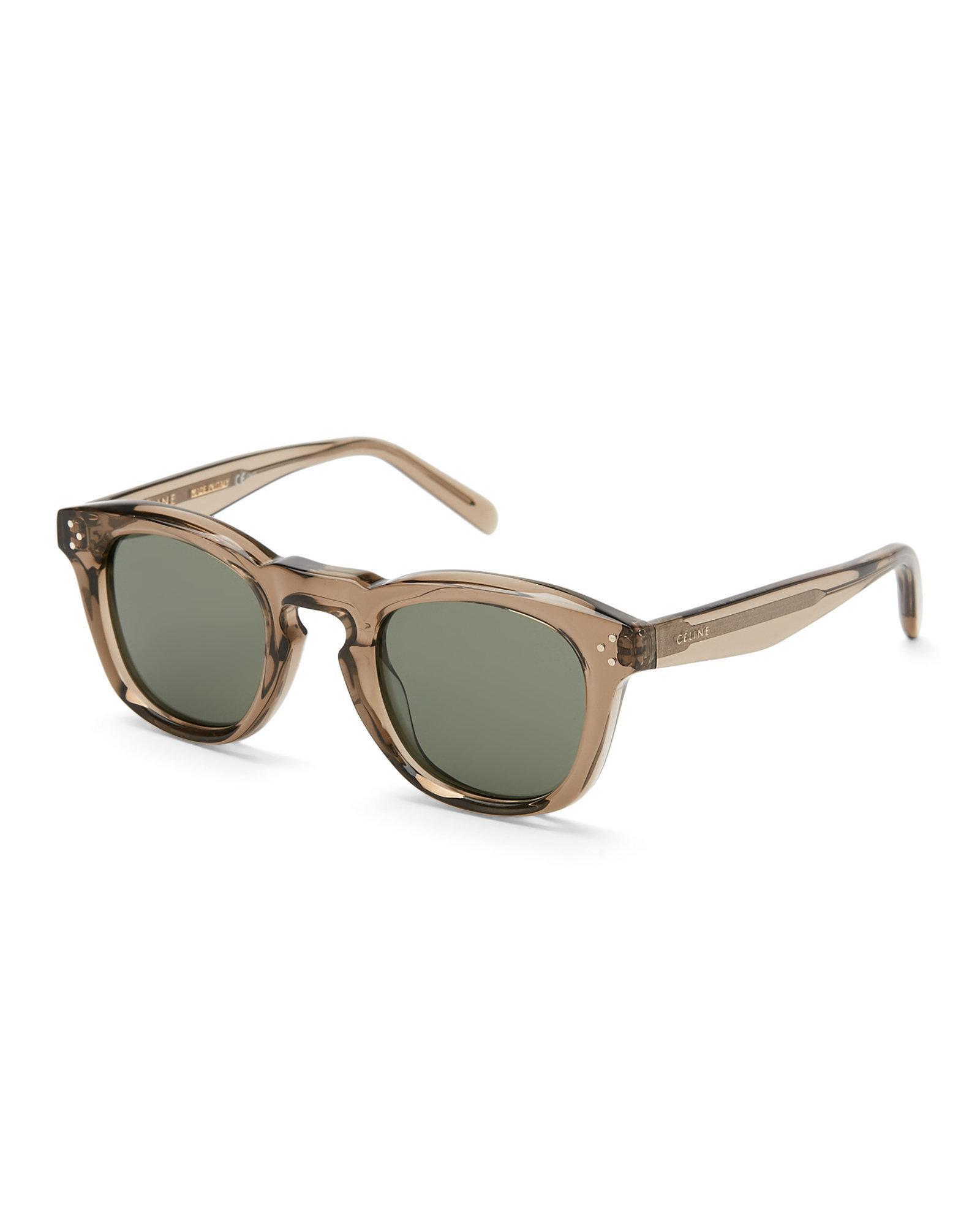 1e725a73c27 Lyst - Céline Cl 41371 S Black Round Sunglasses