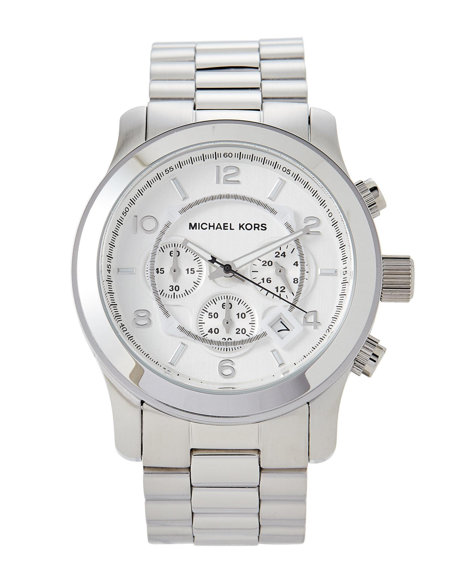 Lyst - Michael Kors Mk8086 Silver-tone Runway Watch in Metallic for Men 1b33112ba2