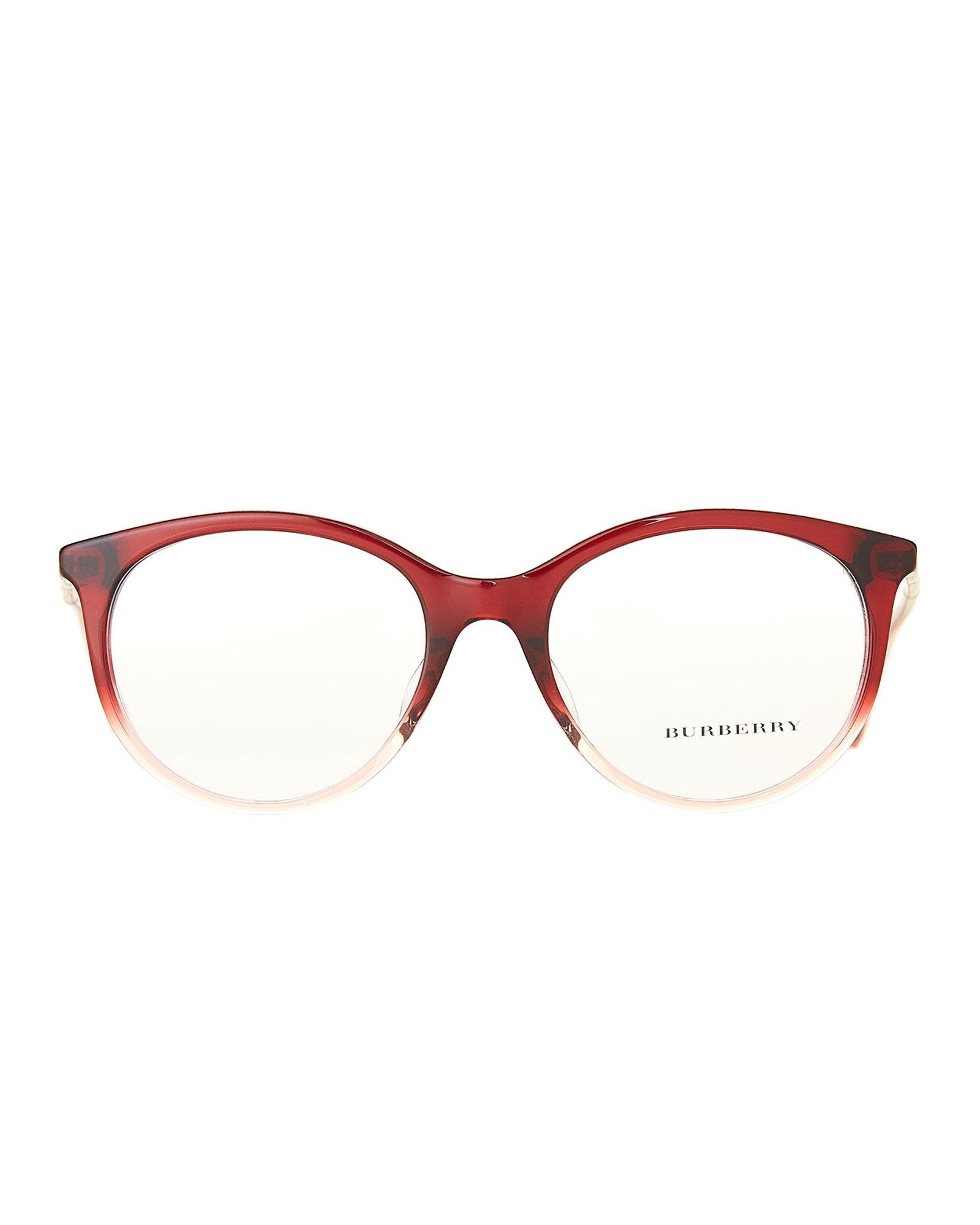 5d37343688 Lyst - Burberry B 2244-q-f Wine Ombre Cateye Optical Frames in Brown ...