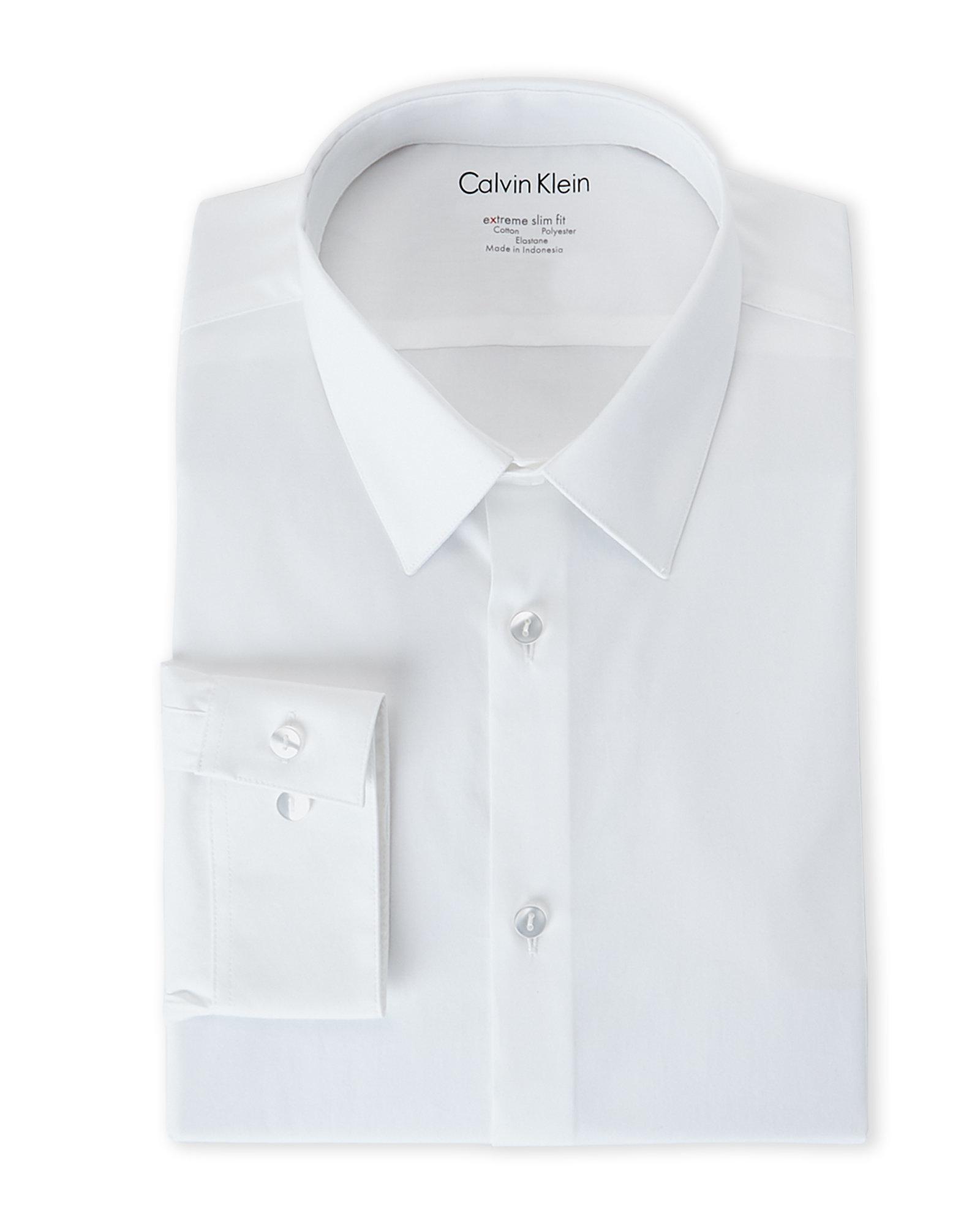 fa7a5495688 Calvin Klein Steel Mens Slim Fit French Cuff Tuxedo Shirt