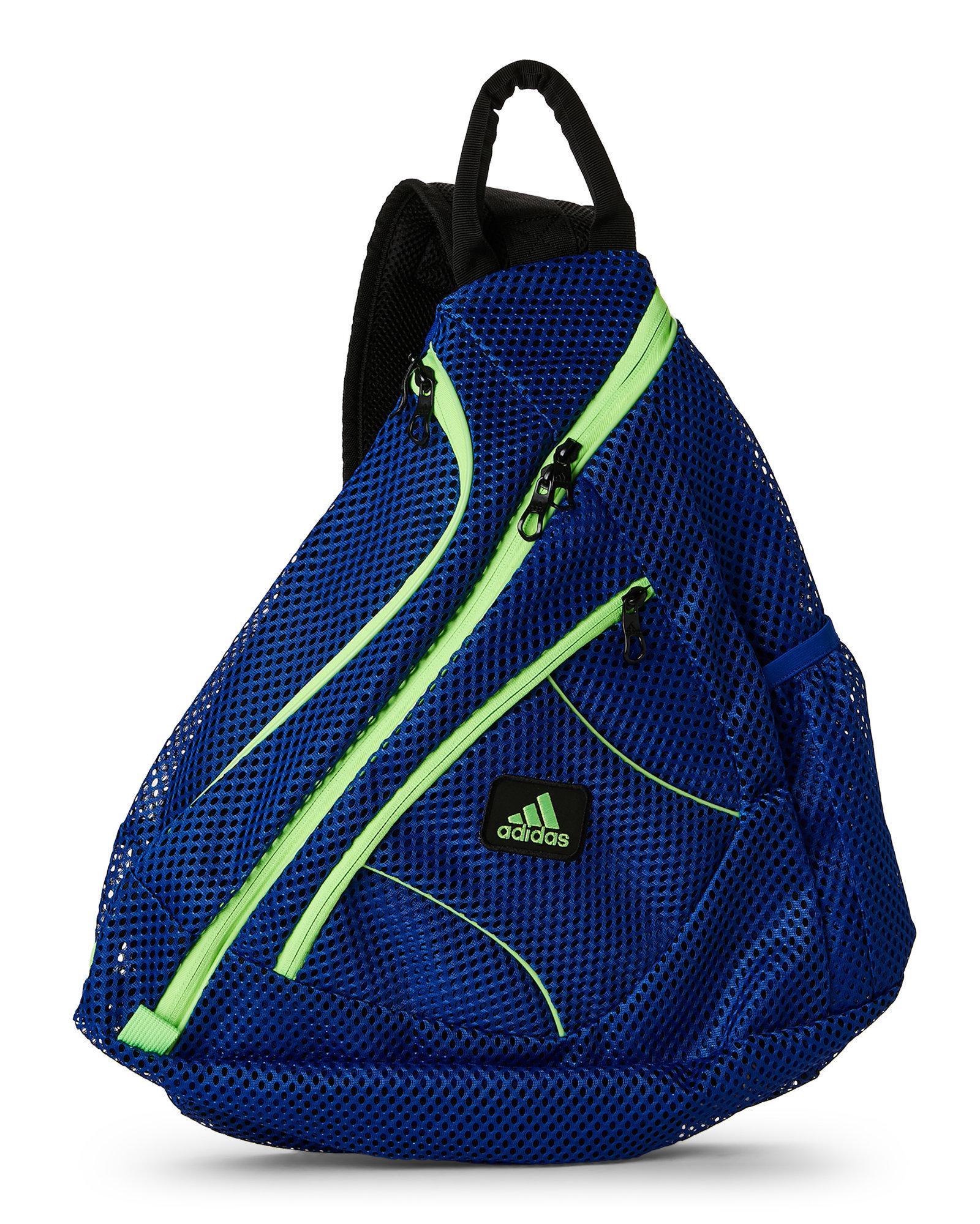 f36b3a01b8 Adidas Originals - Blue   Green Vista Mesh Sling Backpack for Men - Lyst