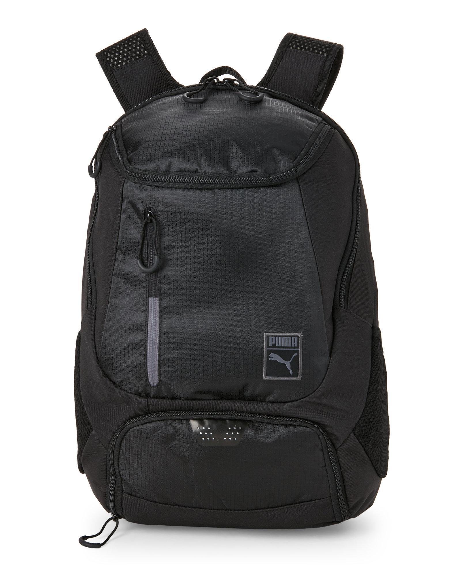 puma black motivator backpack in black for men lyst