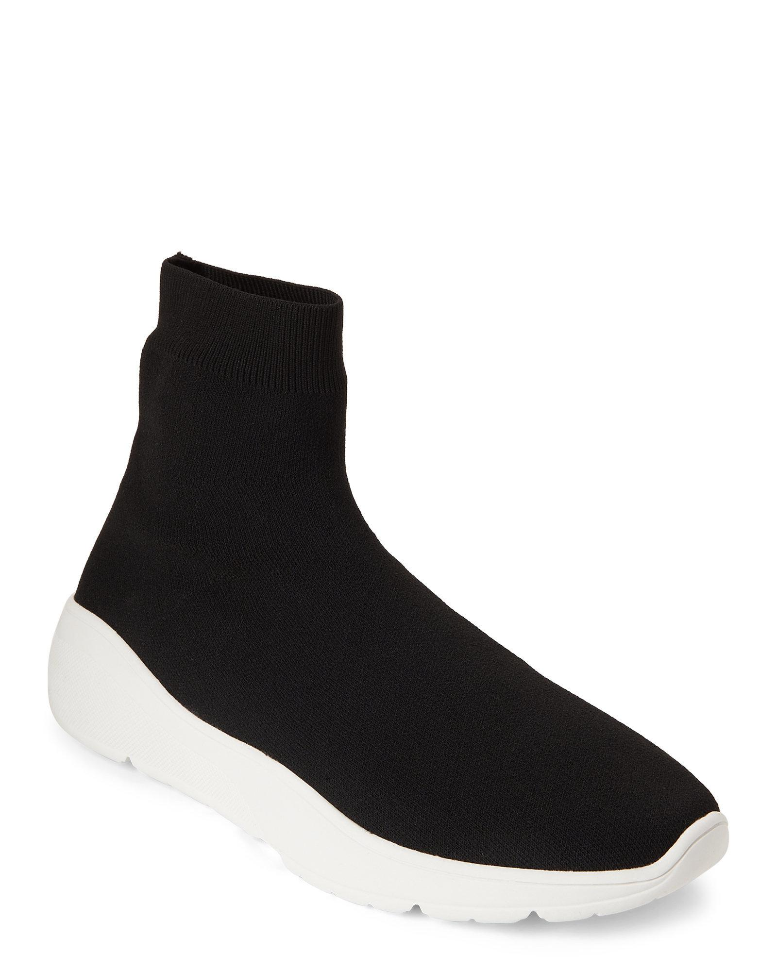 aec2fd70cab Lyst - Steve Madden Black Flex Knit Sock Sneakers in Black