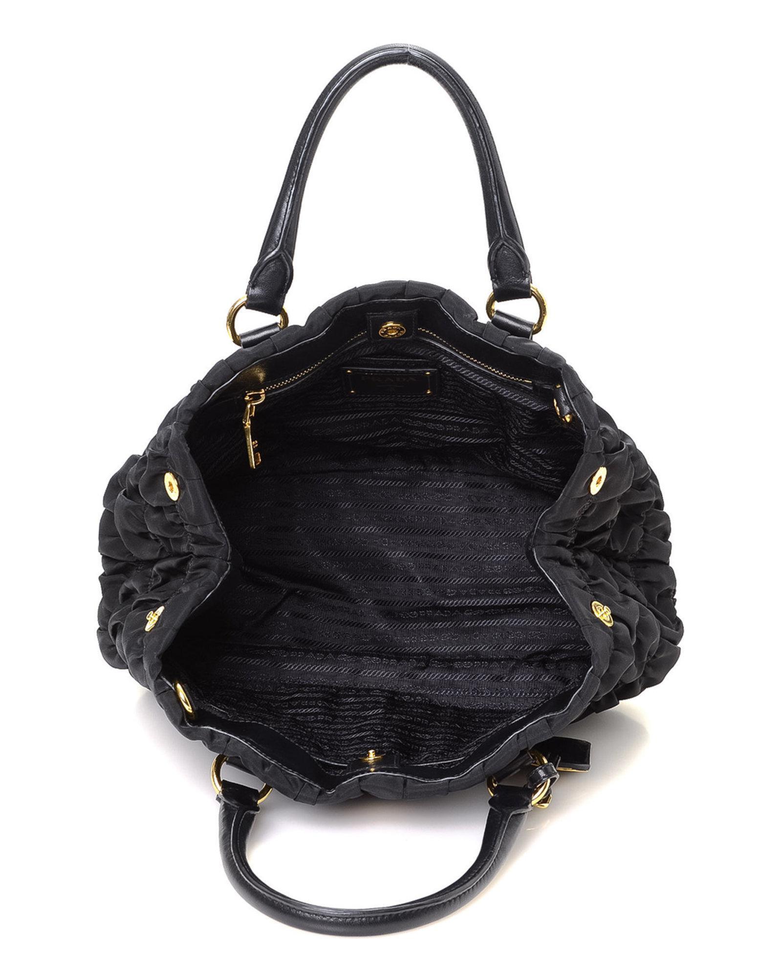 8b2352022a08 get lyst prada tessuto nappa gaufre tote vintage in black 2d907 b0a88