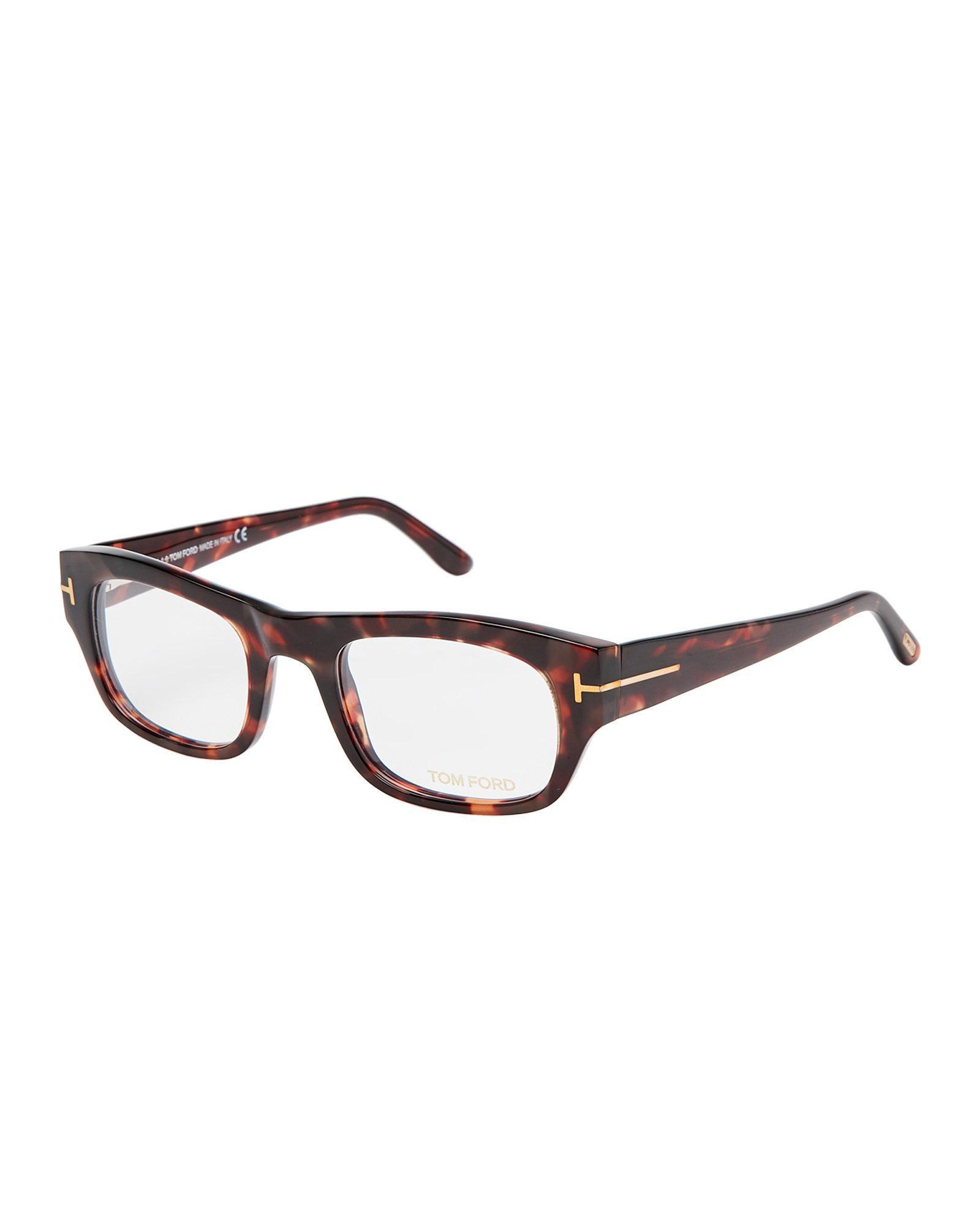 ea37e09645e Lyst - Tom Ford Ft5415 Red Havana Oval Optical Frames in Brown