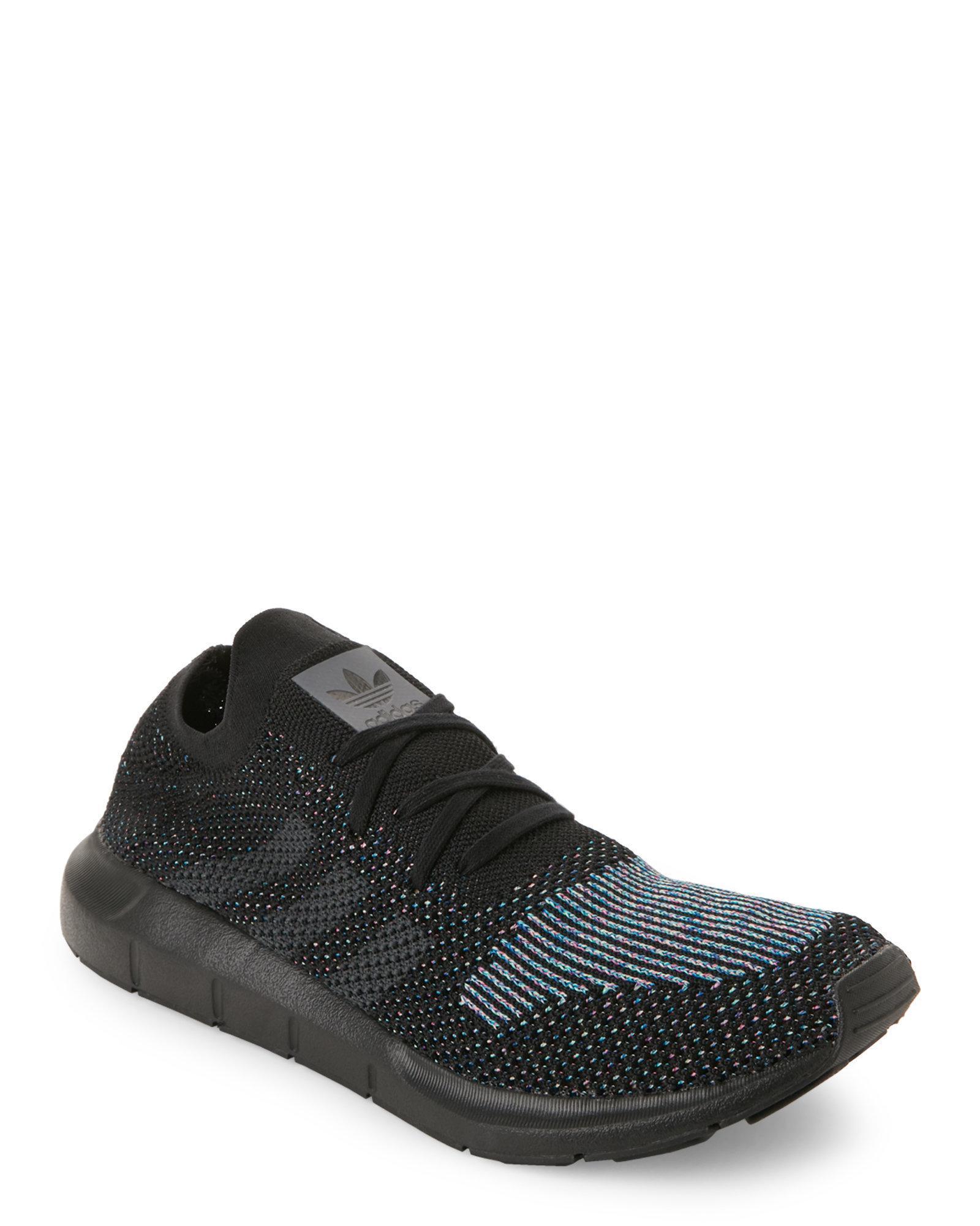 Lyst - Adidas Black   Grey Swift Run Knit Sneakers for Men 8773542f3