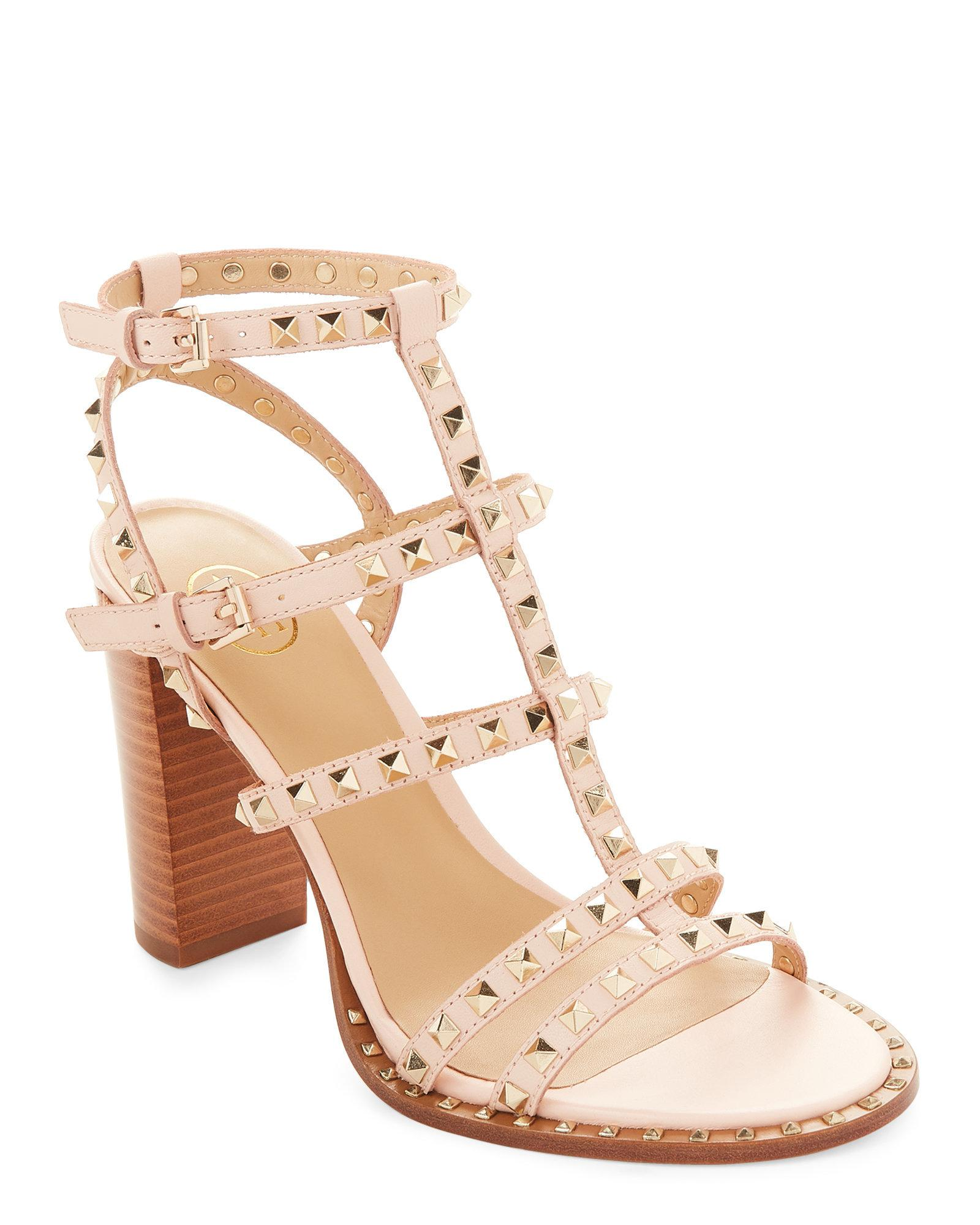 73c9d1e2f80f Lyst - Ash Powder Lucy Studded Caged Leather Sandals