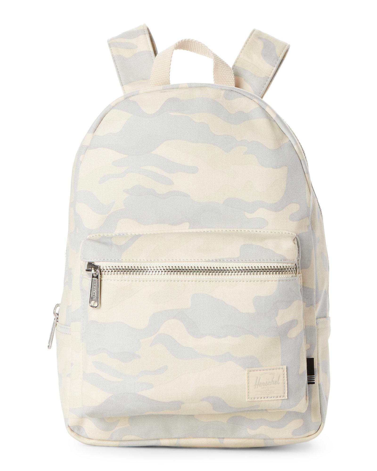 8cbf53b259f Lyst - Herschel Supply Co. Washed Camo Grove Mini Backpack in Natural